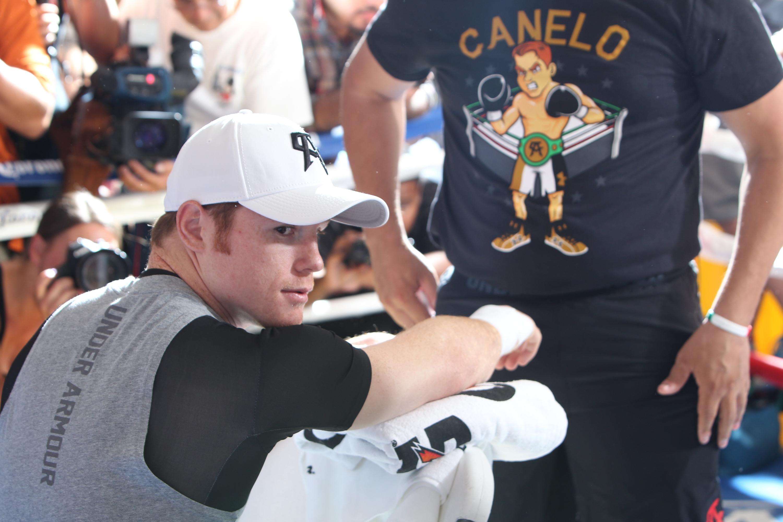 Canelo Alvarez Media Workout