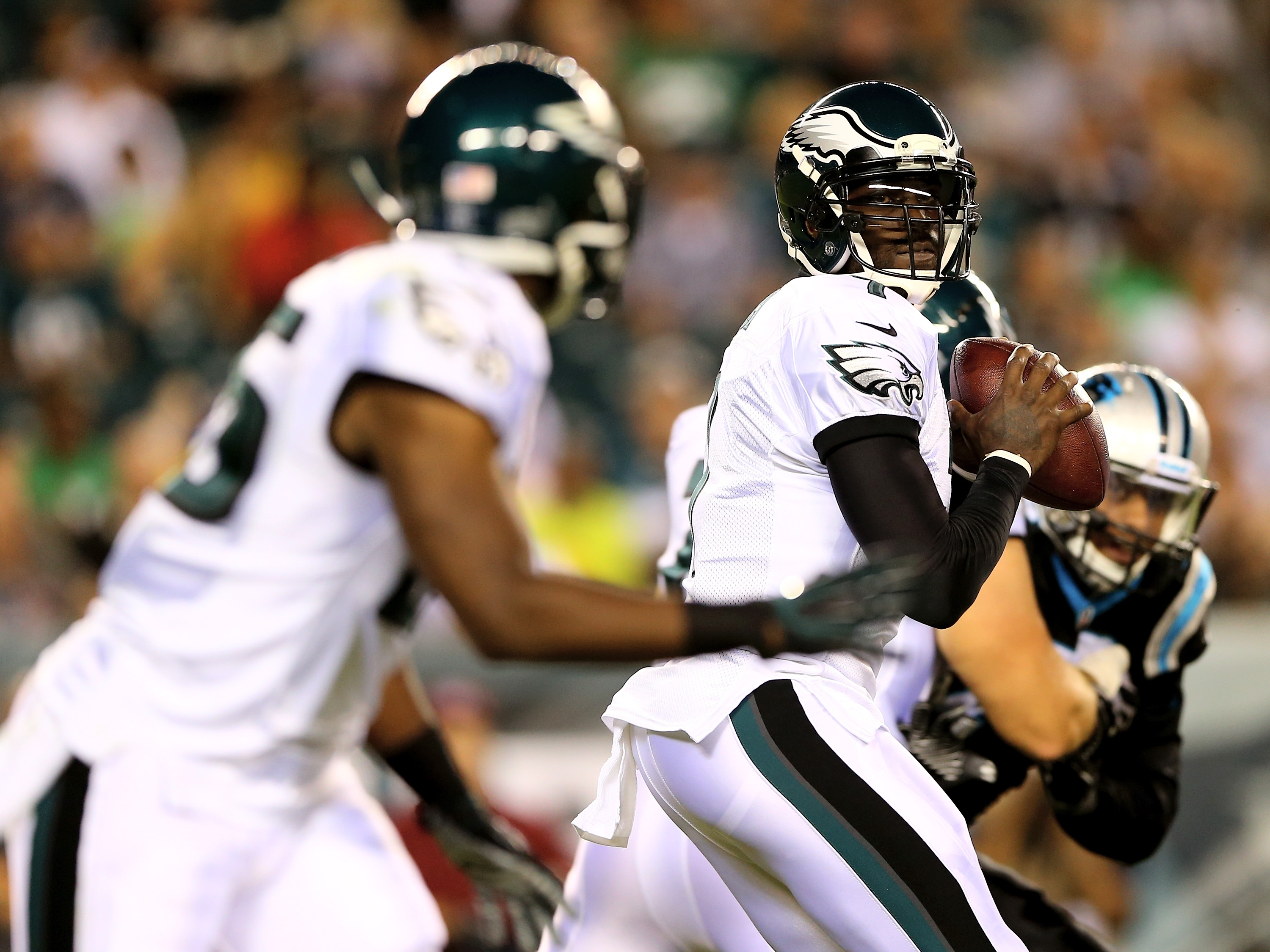 Injury risk looms large with Michael Vick and LeSean McCoy. (Getty)