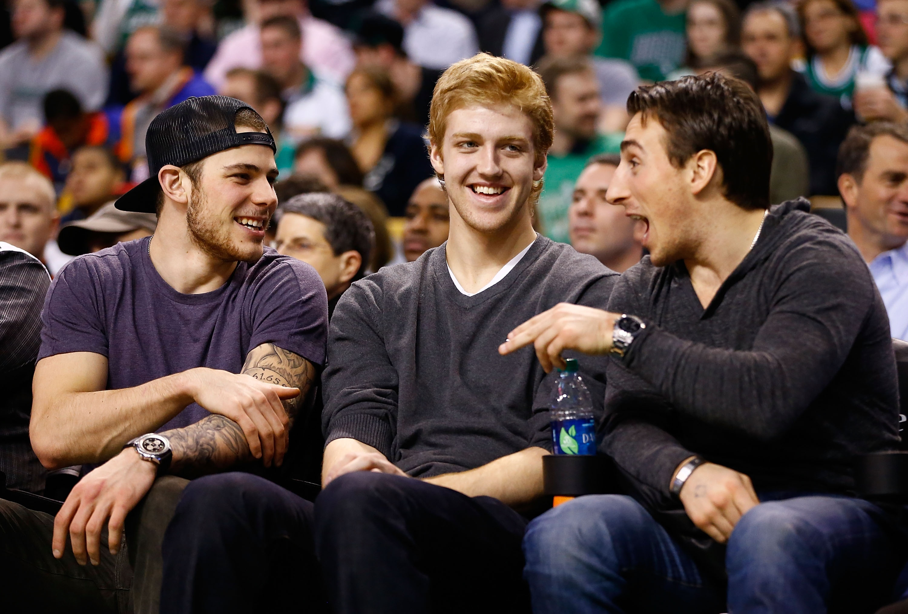 Boston added Tyler Seguin (L) and Dougie Hamilton (C) with draft picks it obtained from Leafs in Kessel deal. (Getty)