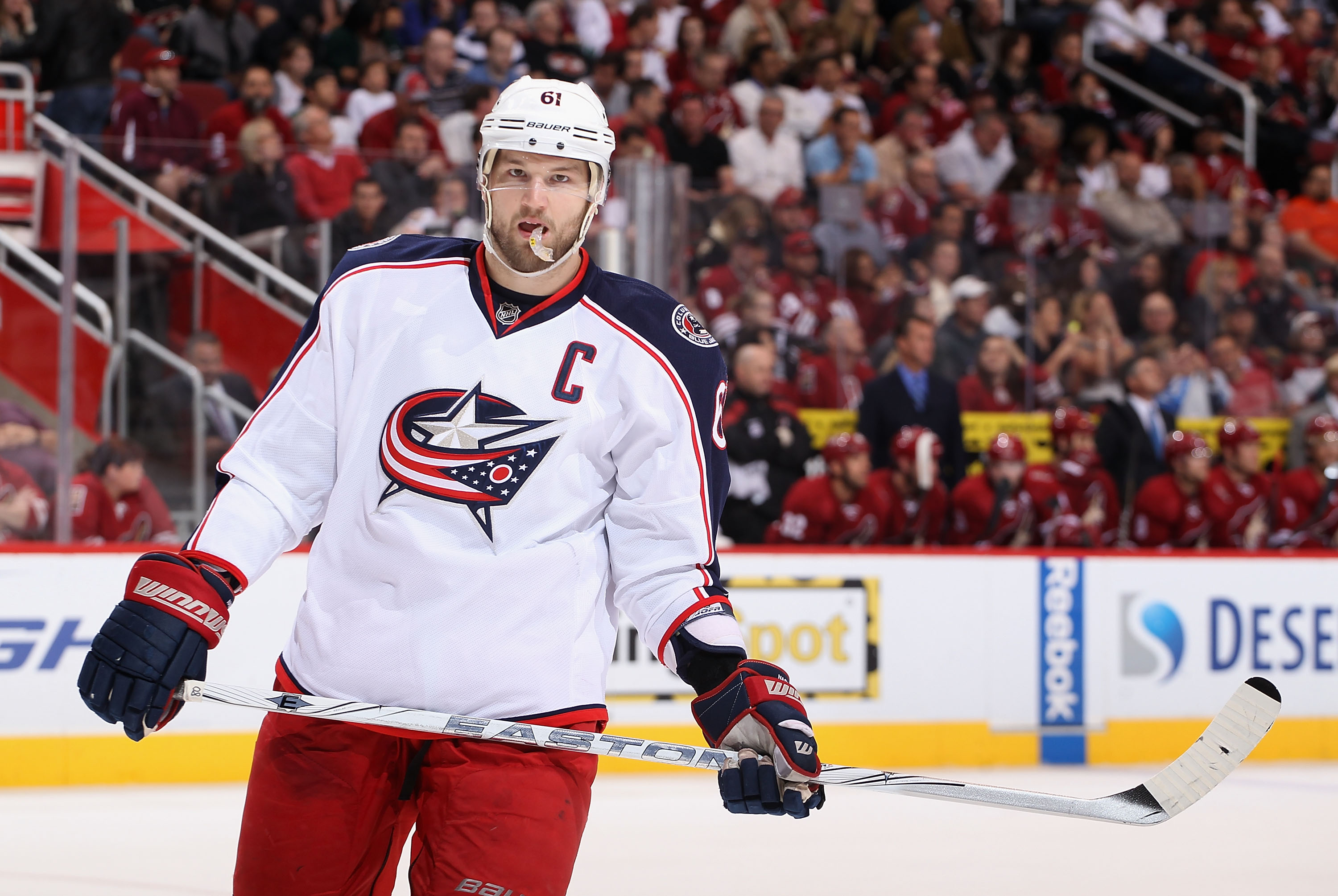 Rick Nash asked out of Columbus, but the Blue Jackets have had difficulty finding the right deal. (Getty)