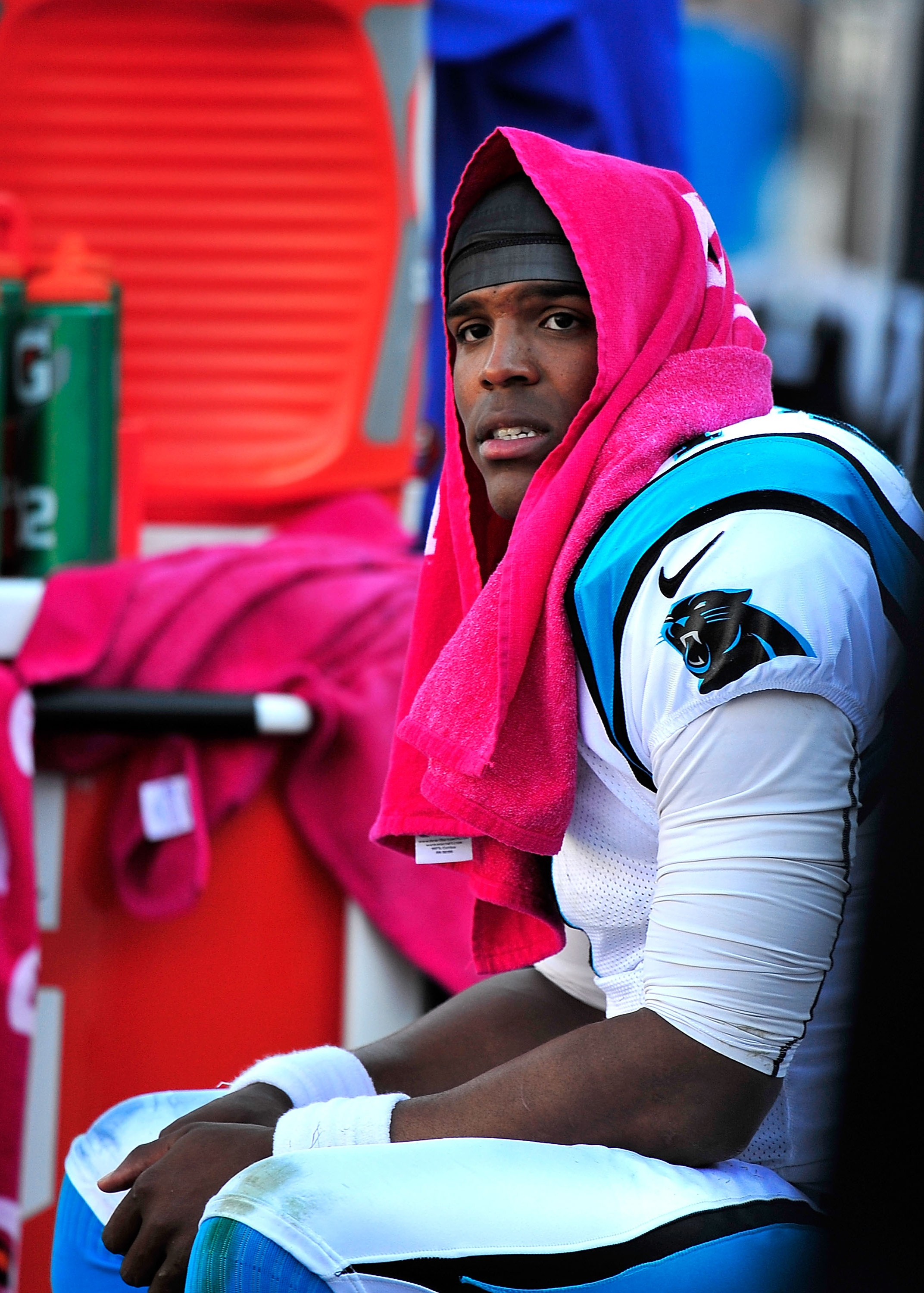 Cam Newton's post-game comments matter little in fantasy football. (Getty)