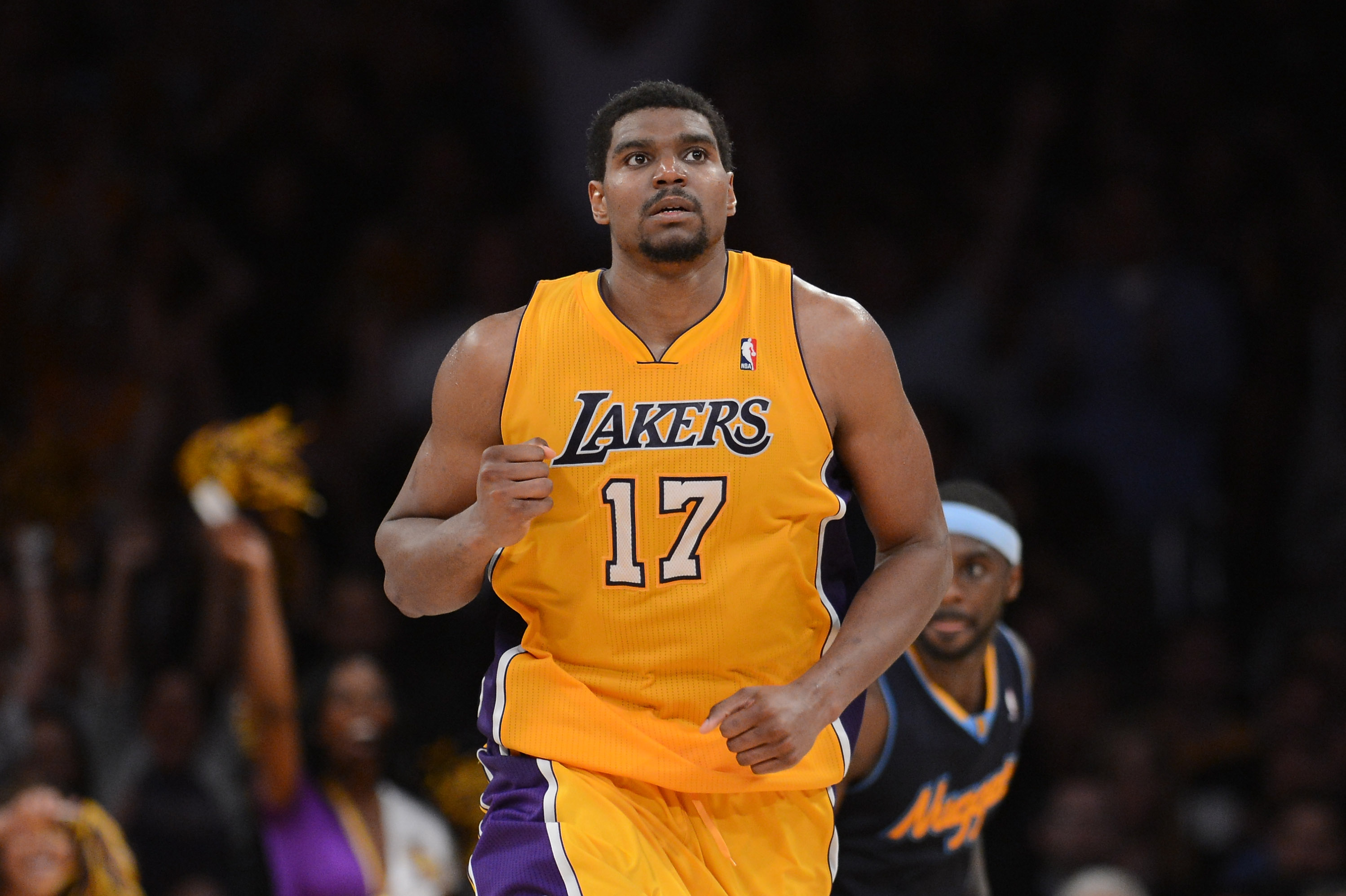 Andrew Bynum was an All-Star with the Lakers for the first time last season. (Getty Images)