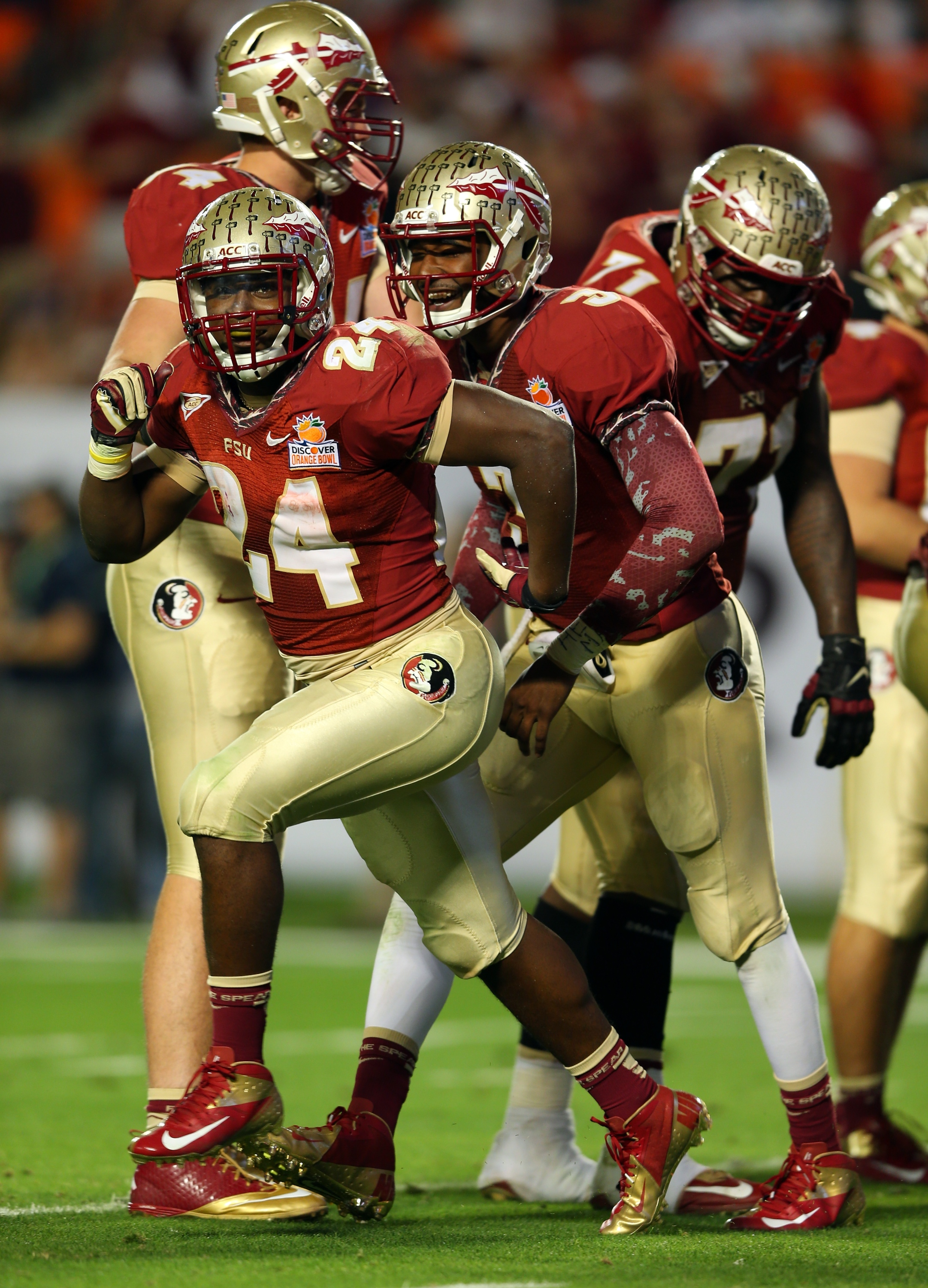 The Seminoles totaled 534 yards in offense, but converted just three third downs. (Getty Images)