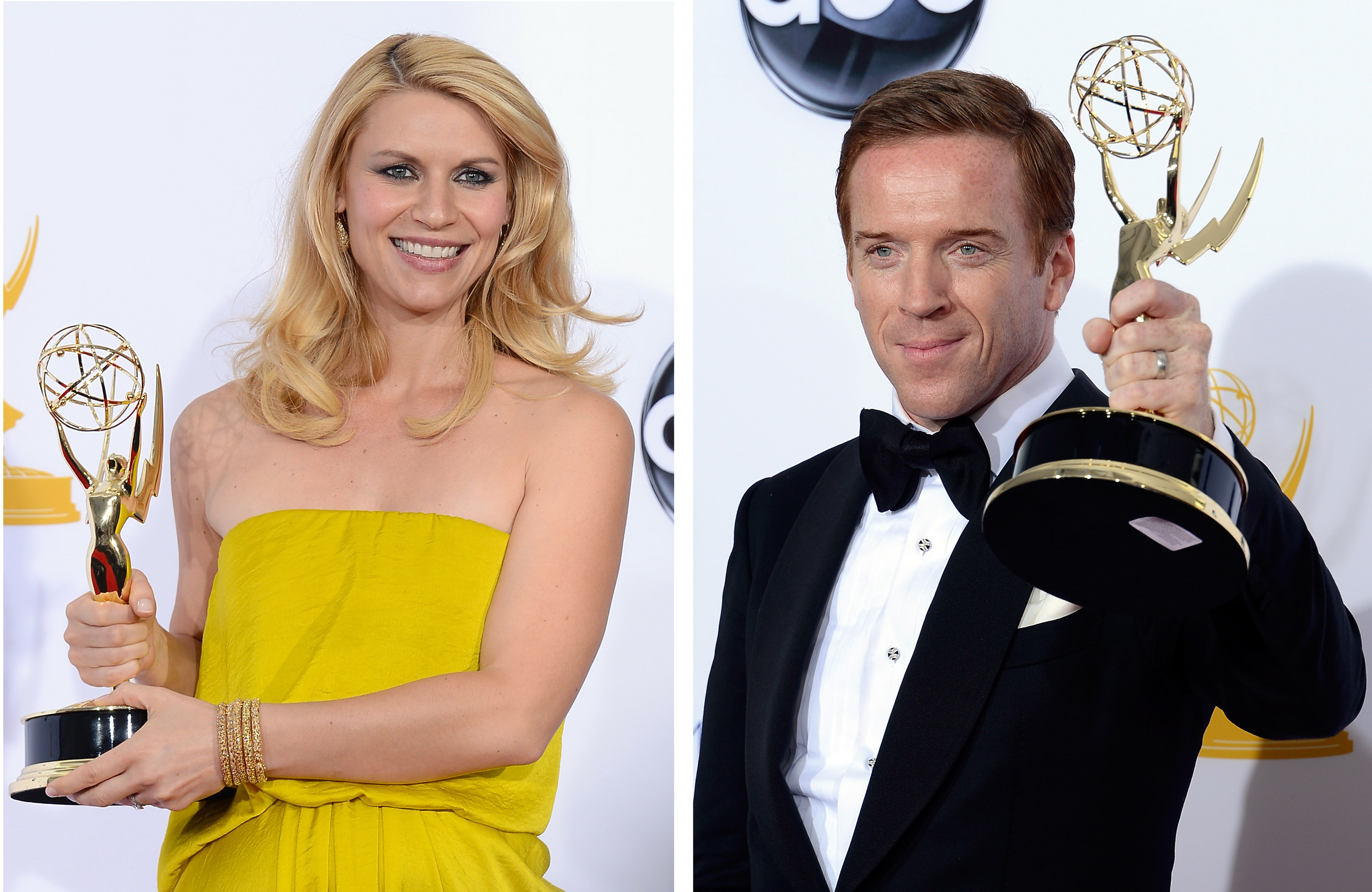 Claire Danes and Damian Lewis at the 64th Annual Primetime Emmy Awards on September 23, 2012. (Photo by Kevork Djansezian/Getty Images)