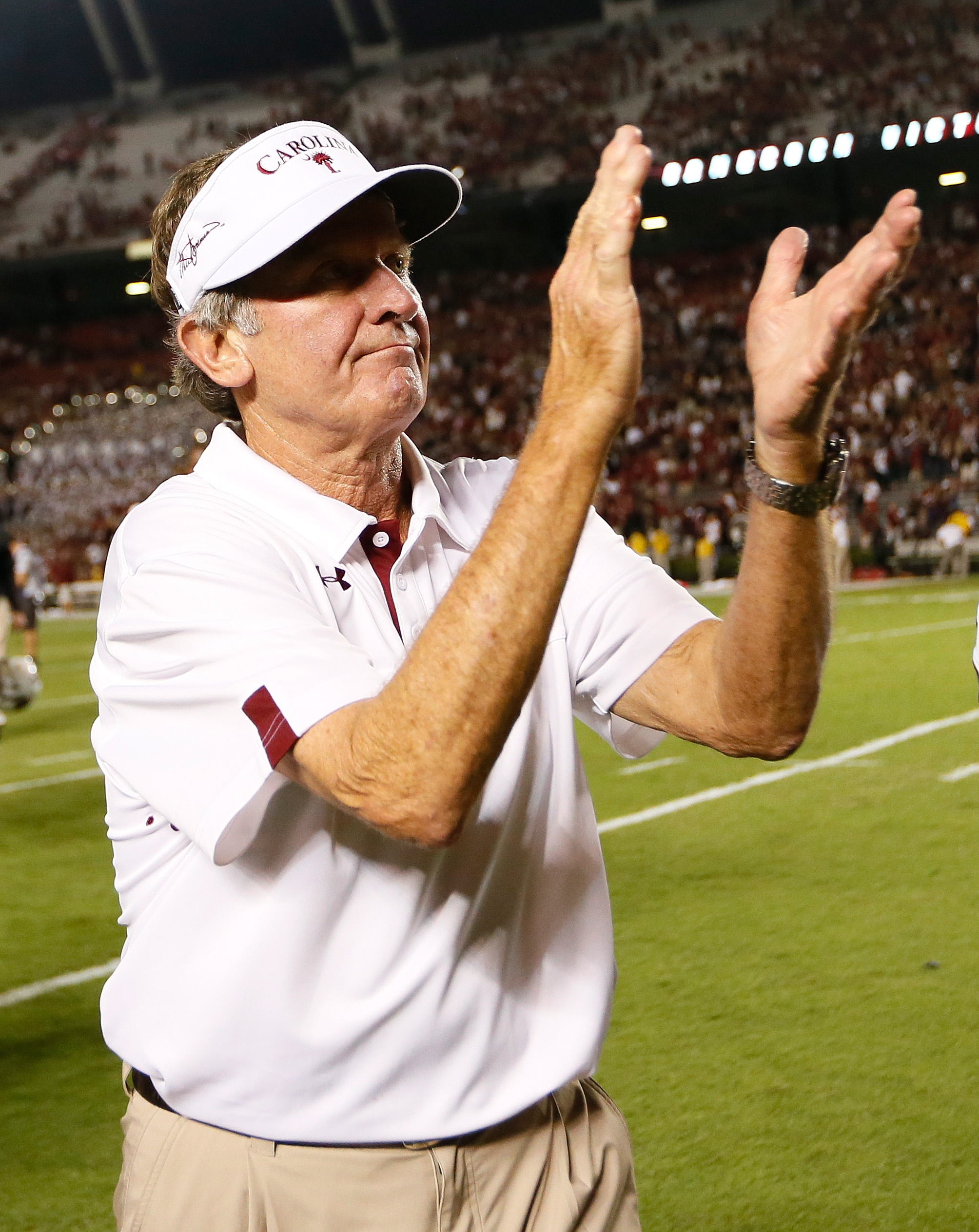 Steve Spurrier's Gamecocks head to LSU this week. (Getty Images)