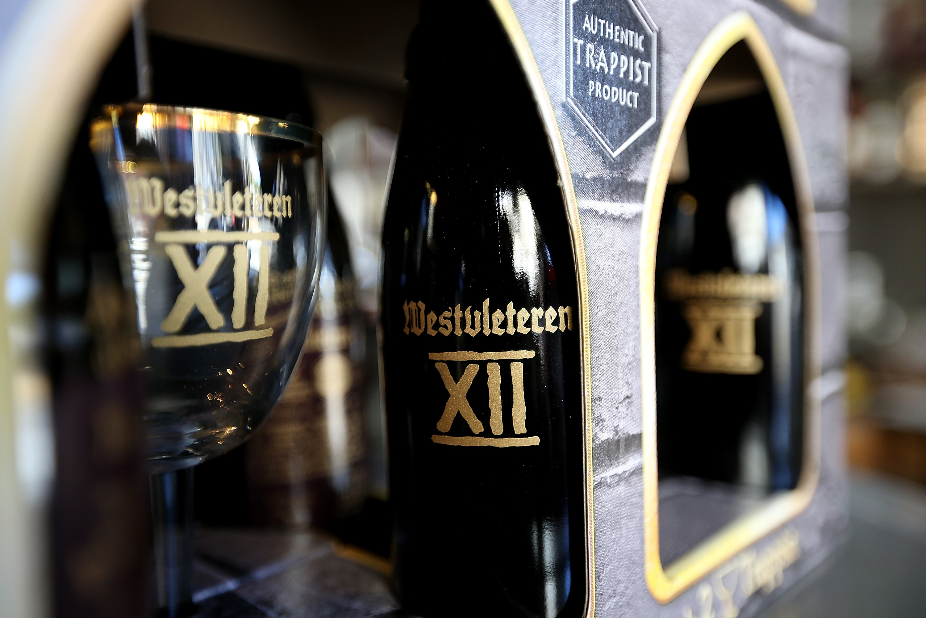 A six-pack of Westvleteren 12 at Ales Unlimited in San Francisco. (Photo by Justin Sullivan/Getty Images)