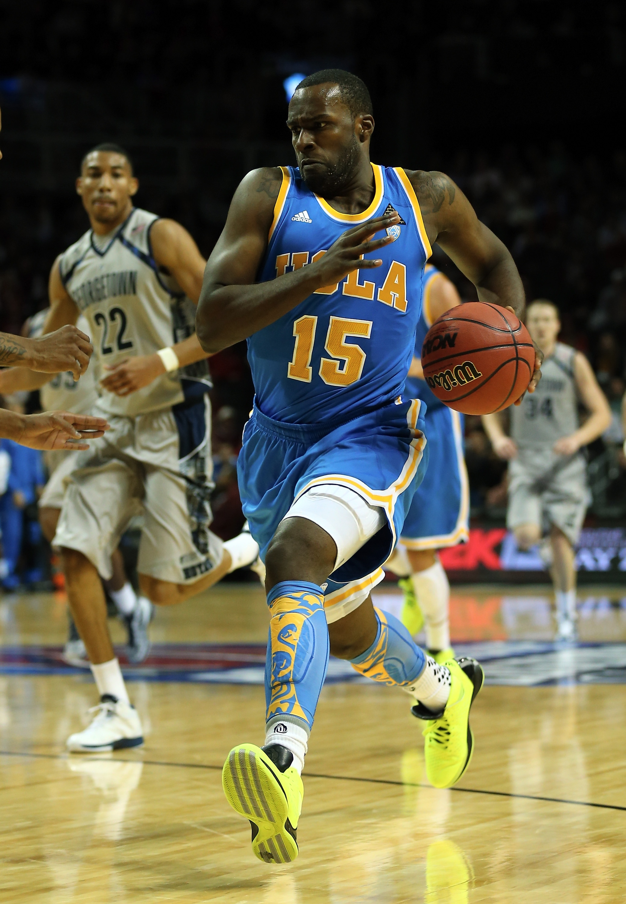 Shabazz Muhammad scored 15 points in his collegiate debut for UCLA. (Getty Images)