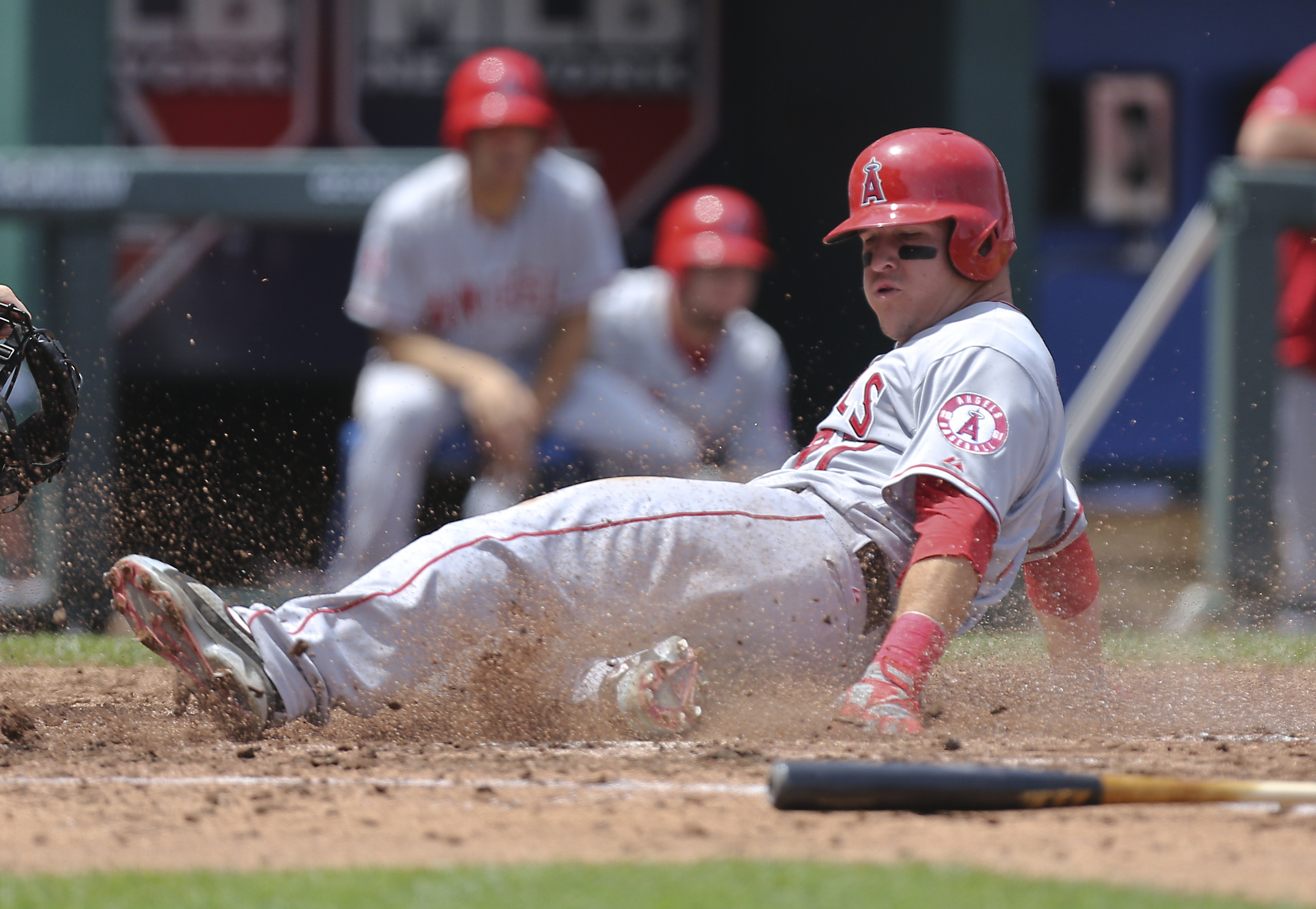 Sophomore slump? Mike Trout hasn't showed any signs of it this season. (Getty Images)