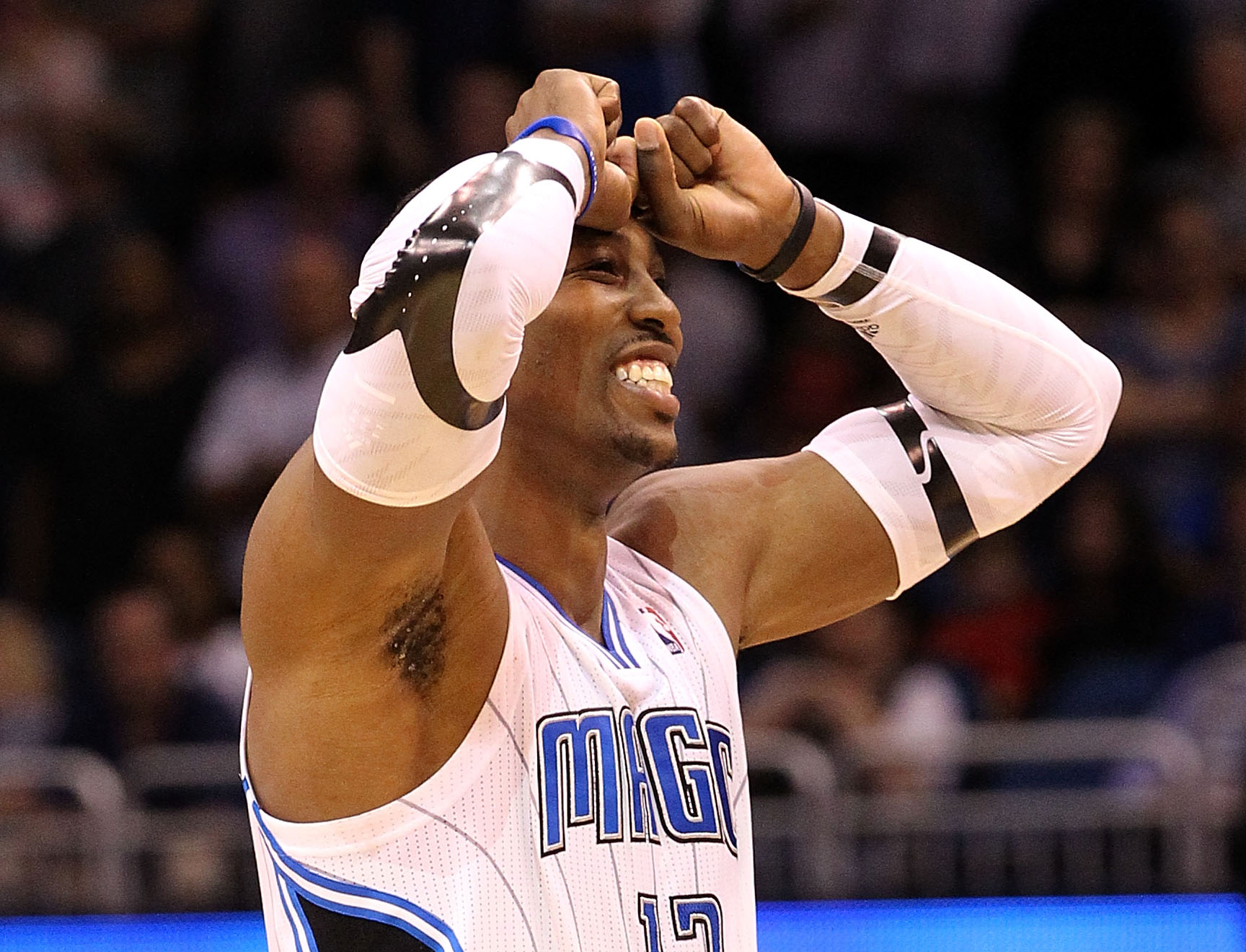 Dwight Howard has indicated the Nets are the only team he will re-sign with after the season. (Getty Images)