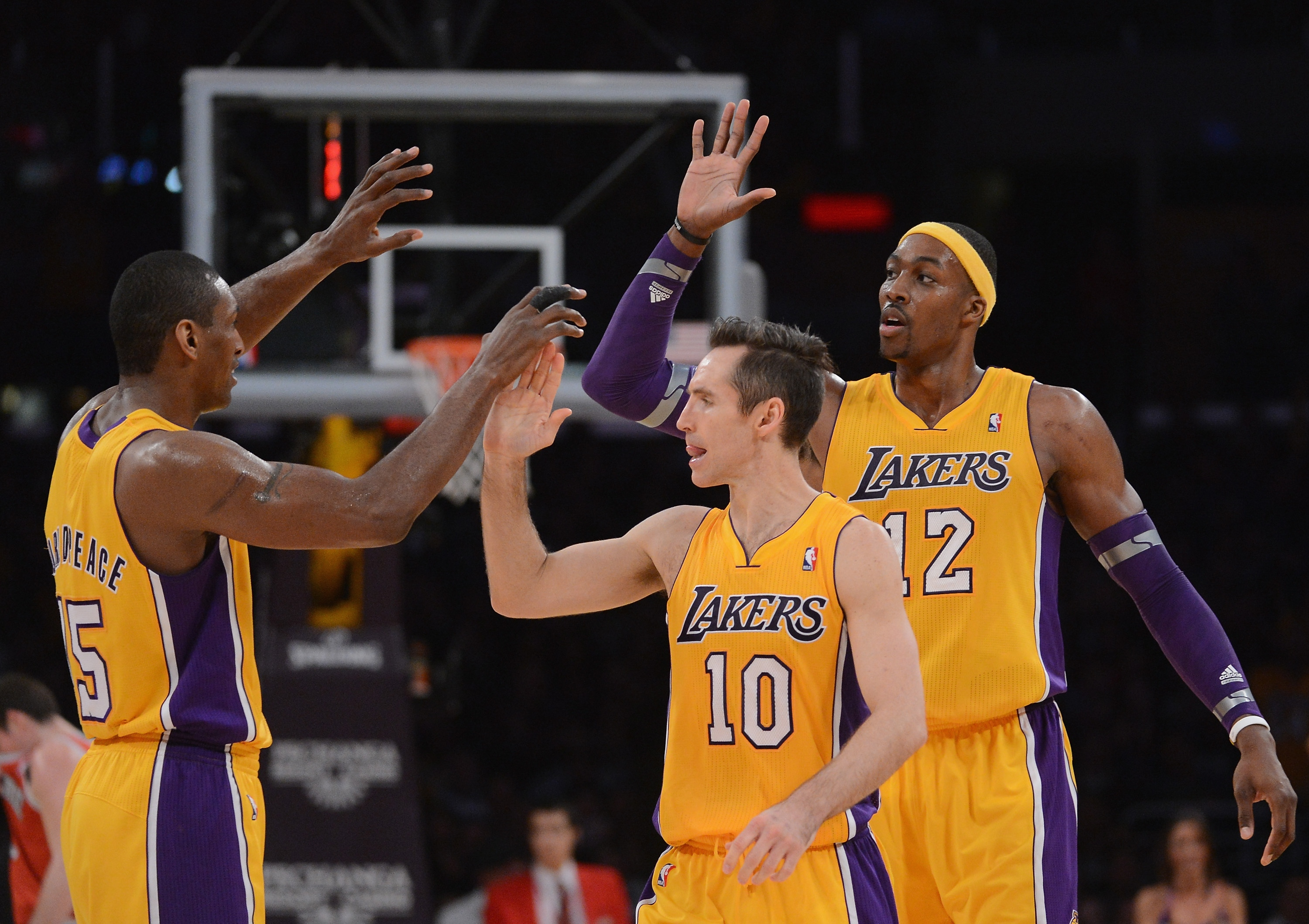 Fotos do time atual do Los Angeles Lakers