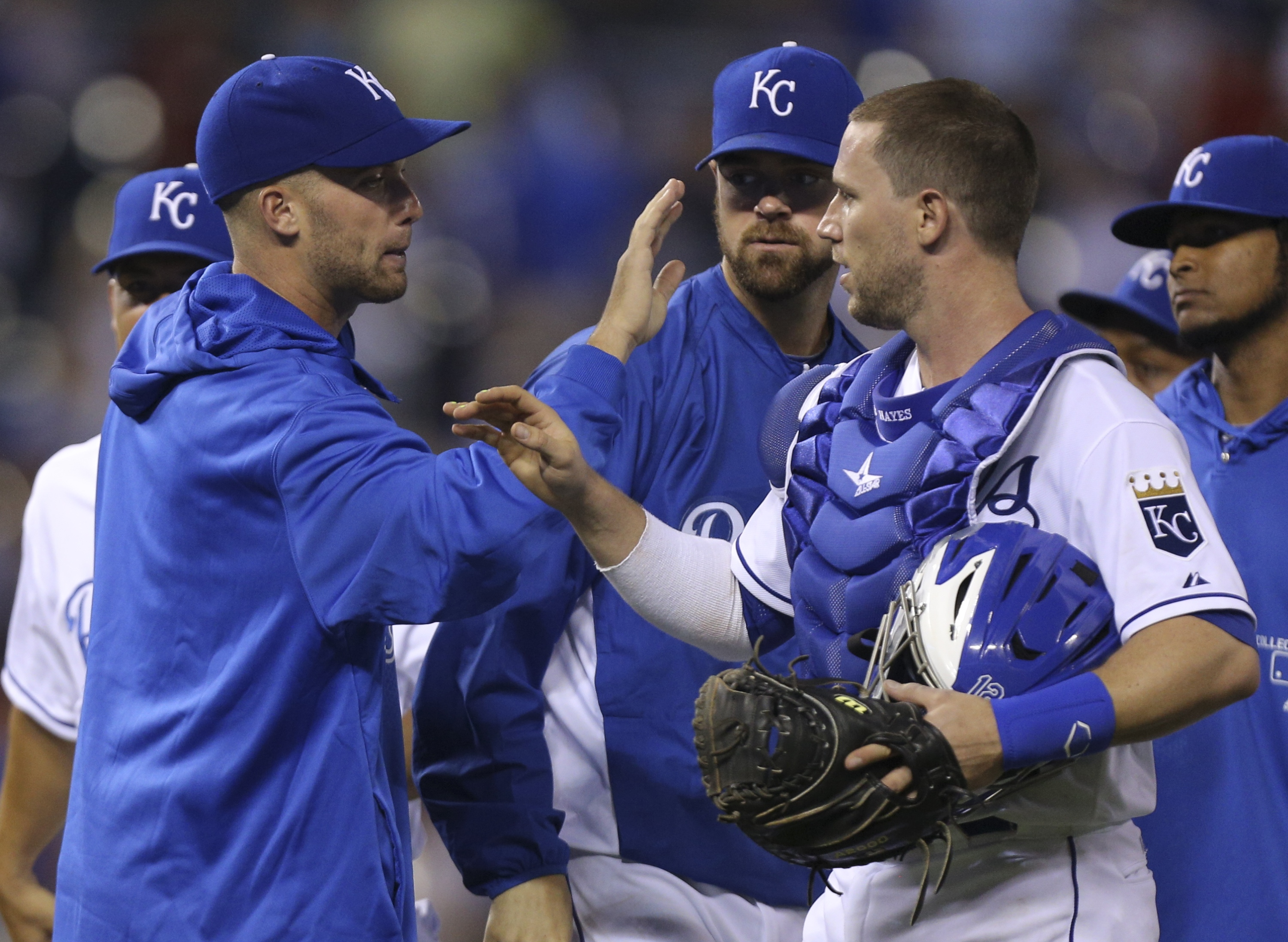 Royals catcher Brett Hayes went 2 for 4 in Wednesday's victory against the Twins. (Getty Images)