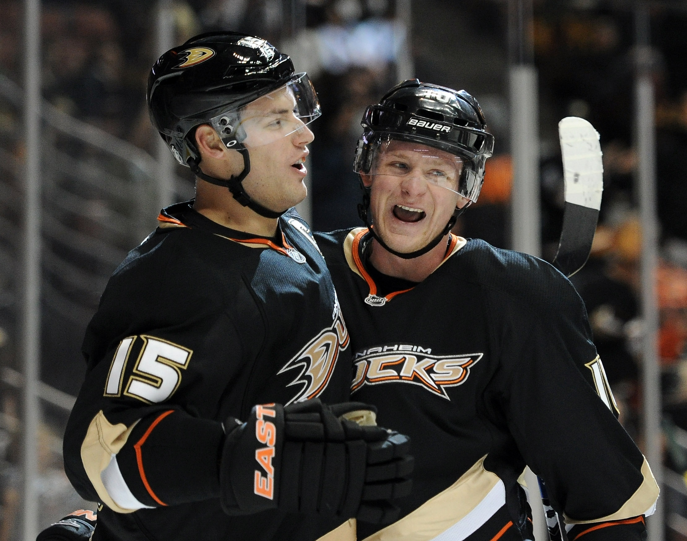 The Ducks gave Ryan Getzlaf (L) a massive new deal. What will they do about Corey Perry? (USA Today)