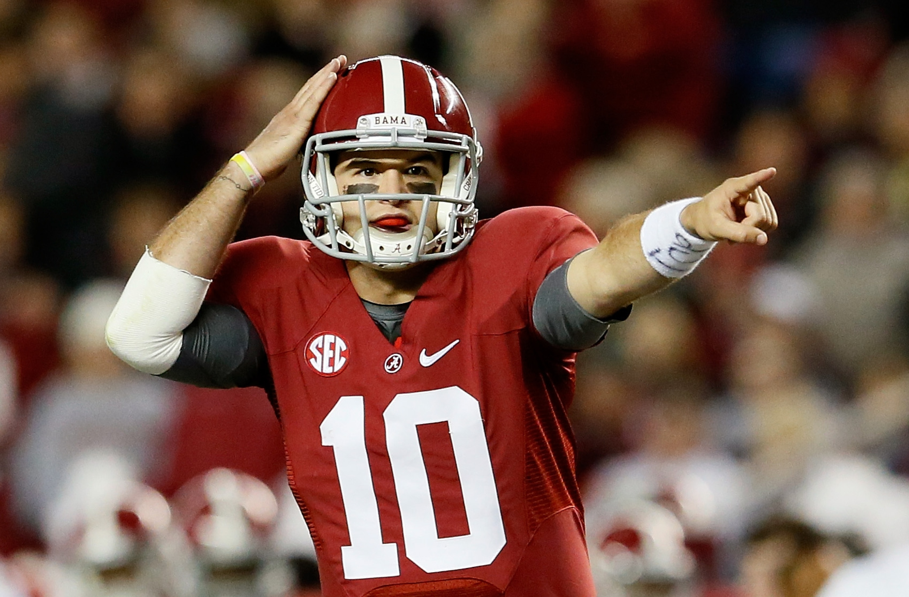 Alabama QB AJ McCarron has vaulted into Heisman contention due to his team's success. (Getty)