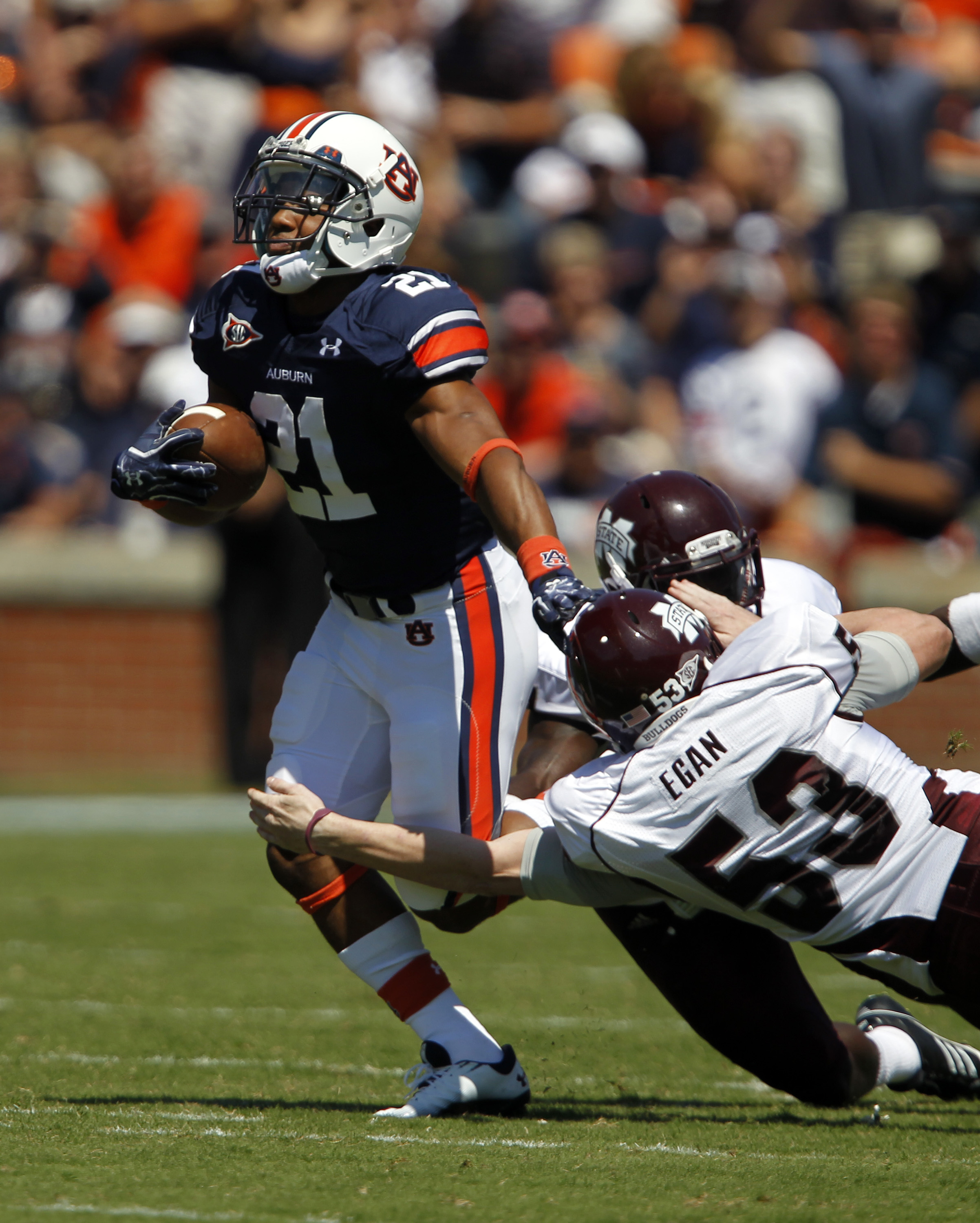 Tre Mason, whose dad is in De La Soul, is an excellent return man for Auburn. (Getty Images)