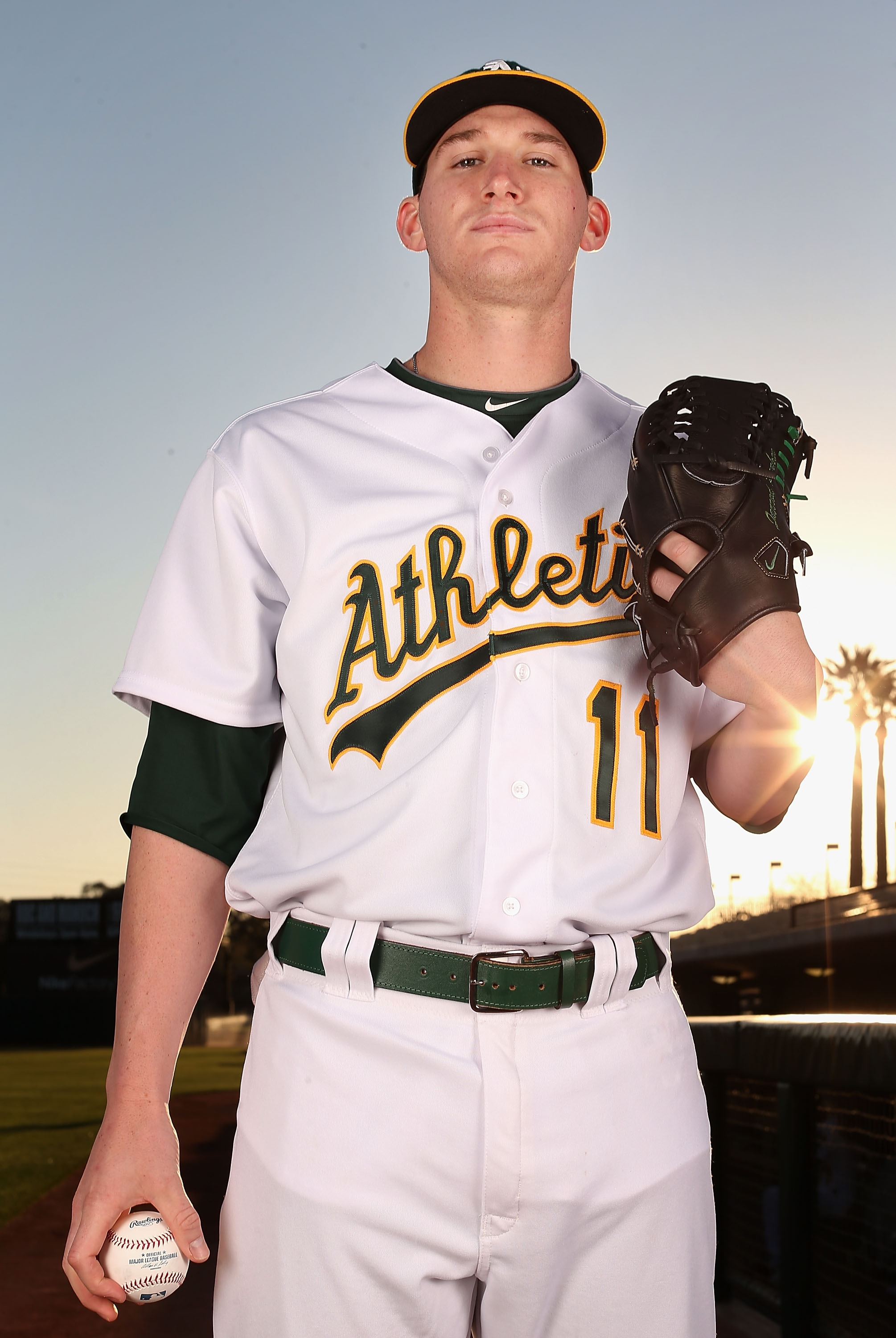 Jarrod Parker won 13 regular-season games for the AL West champion A's last season. (Getty Images)