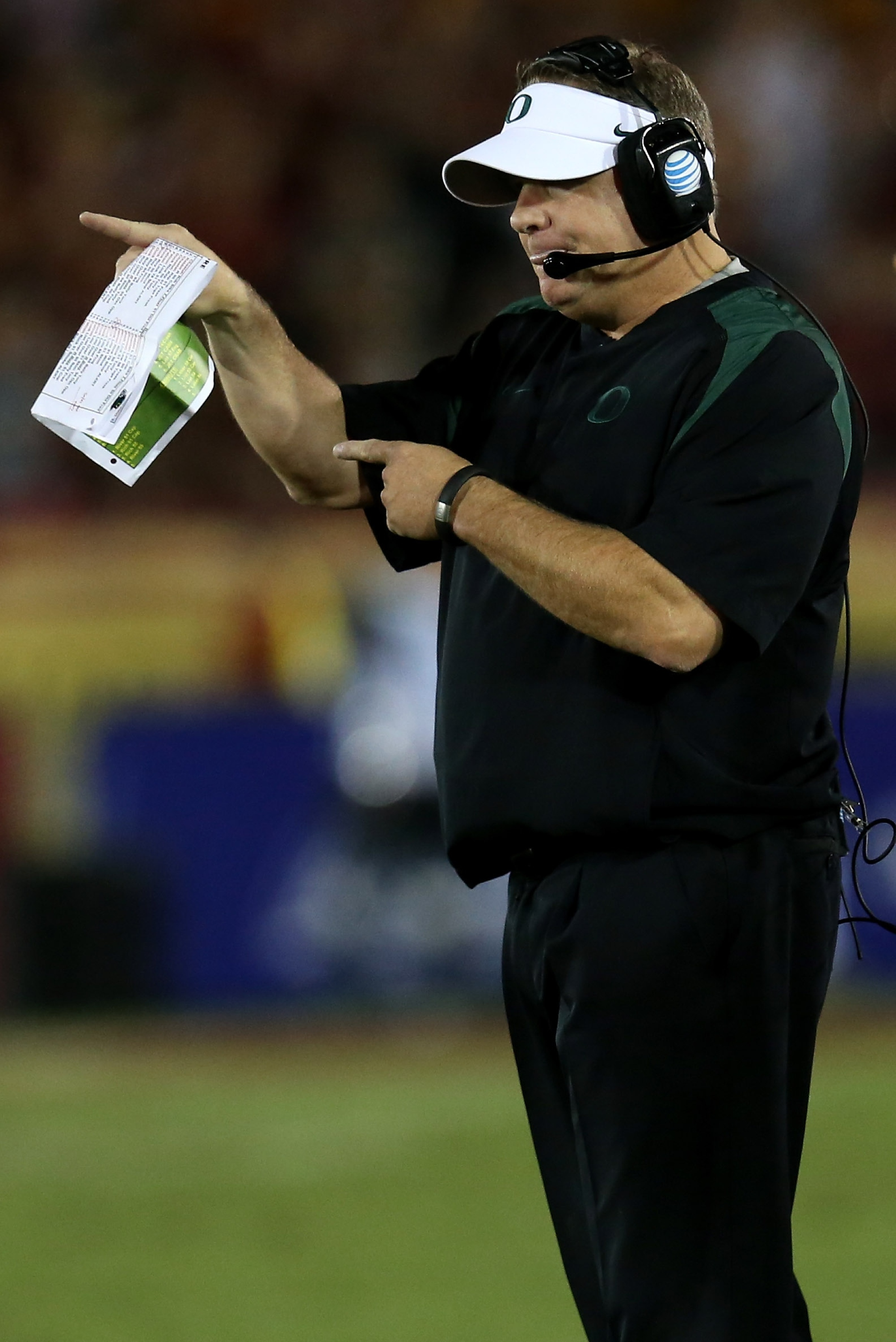 Chip Kelly is 45-7 in four seasons as head coach at Oregon. (Getty)