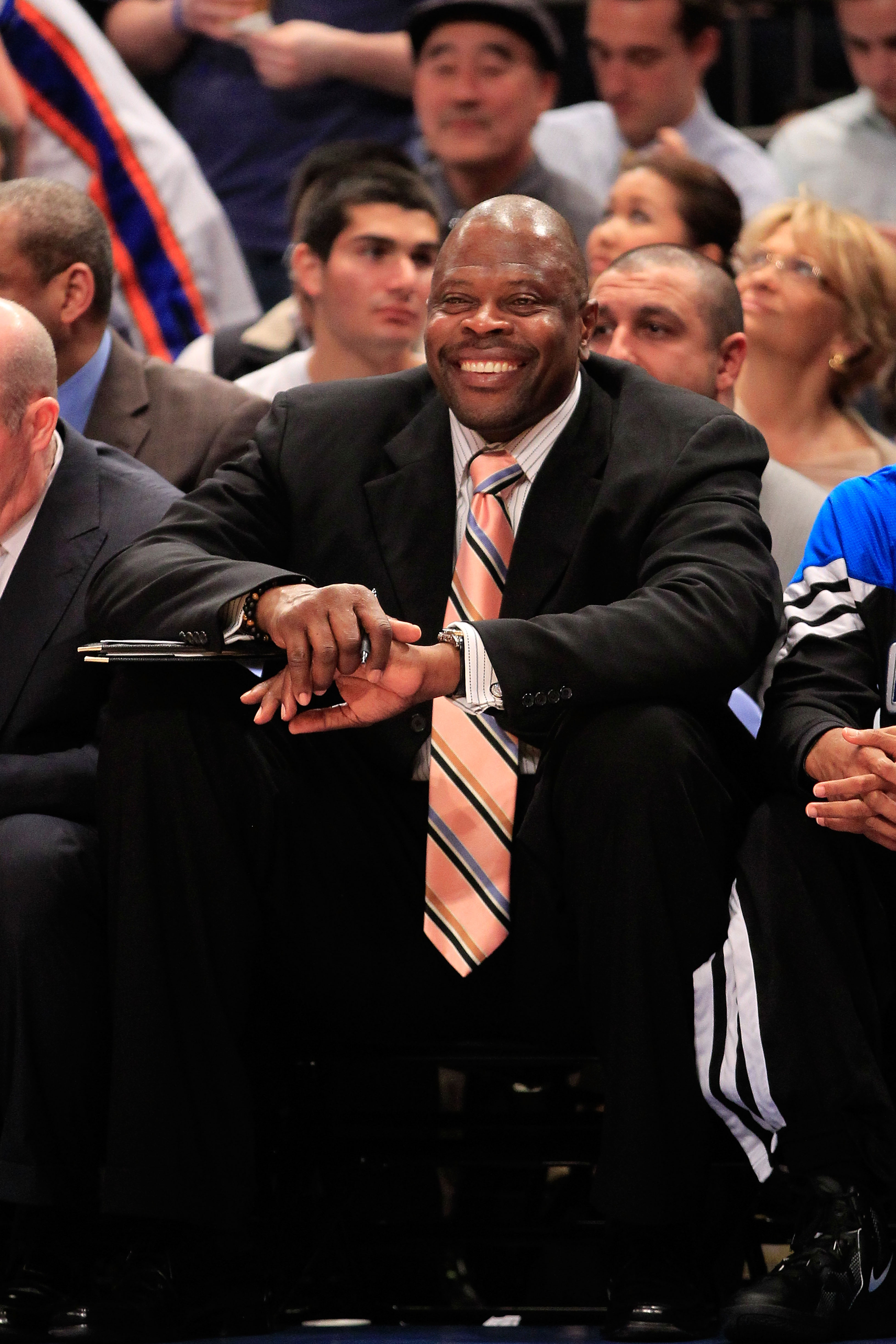 Former Knicks player Patrick Ewing is a candidate for the Bobcats' coaching vacancy. (Getty Images)