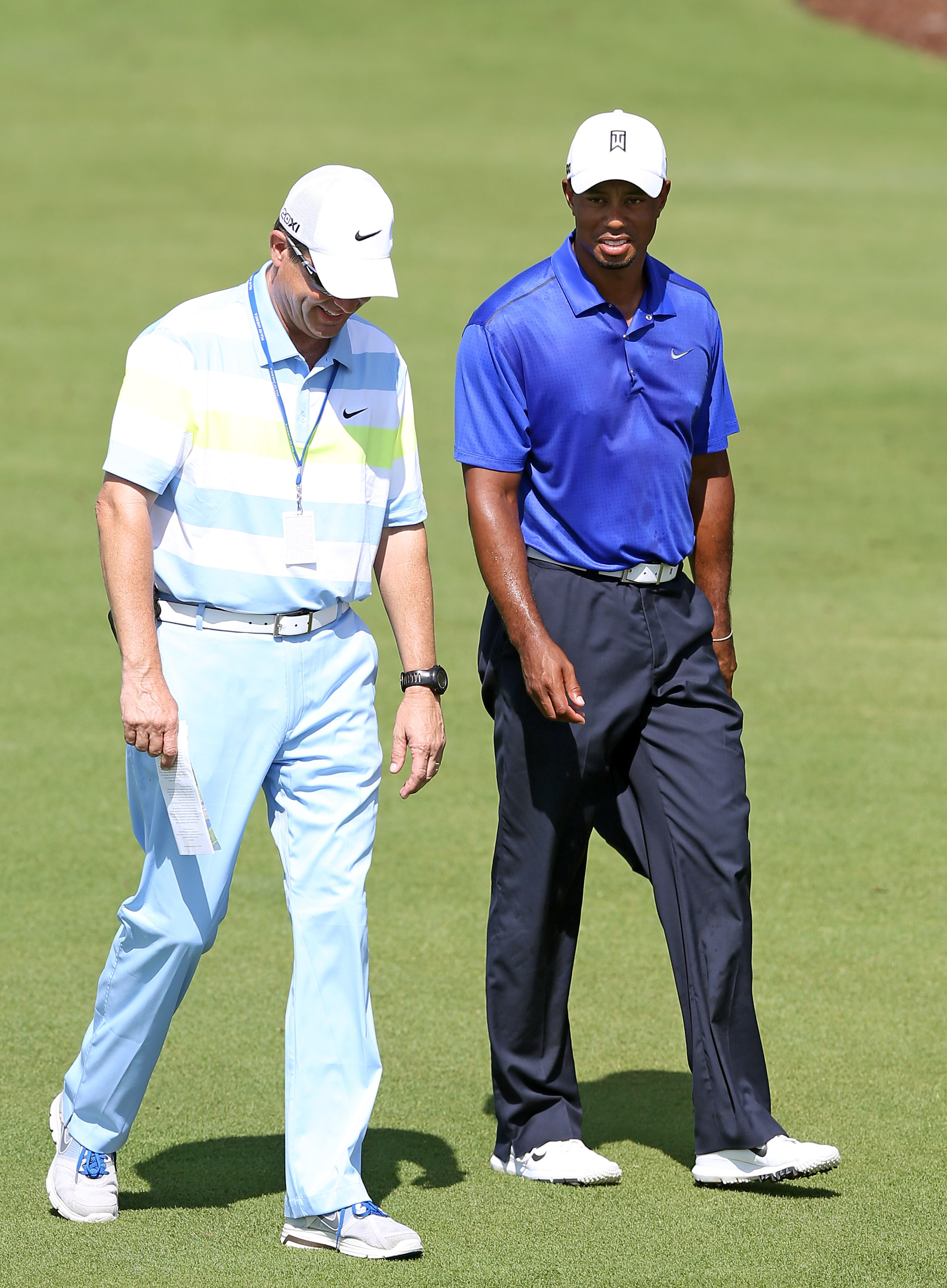 Tiger Woods leads the PGA Tour in scoring average but has struggled on the tougher courses. (Getty Images)