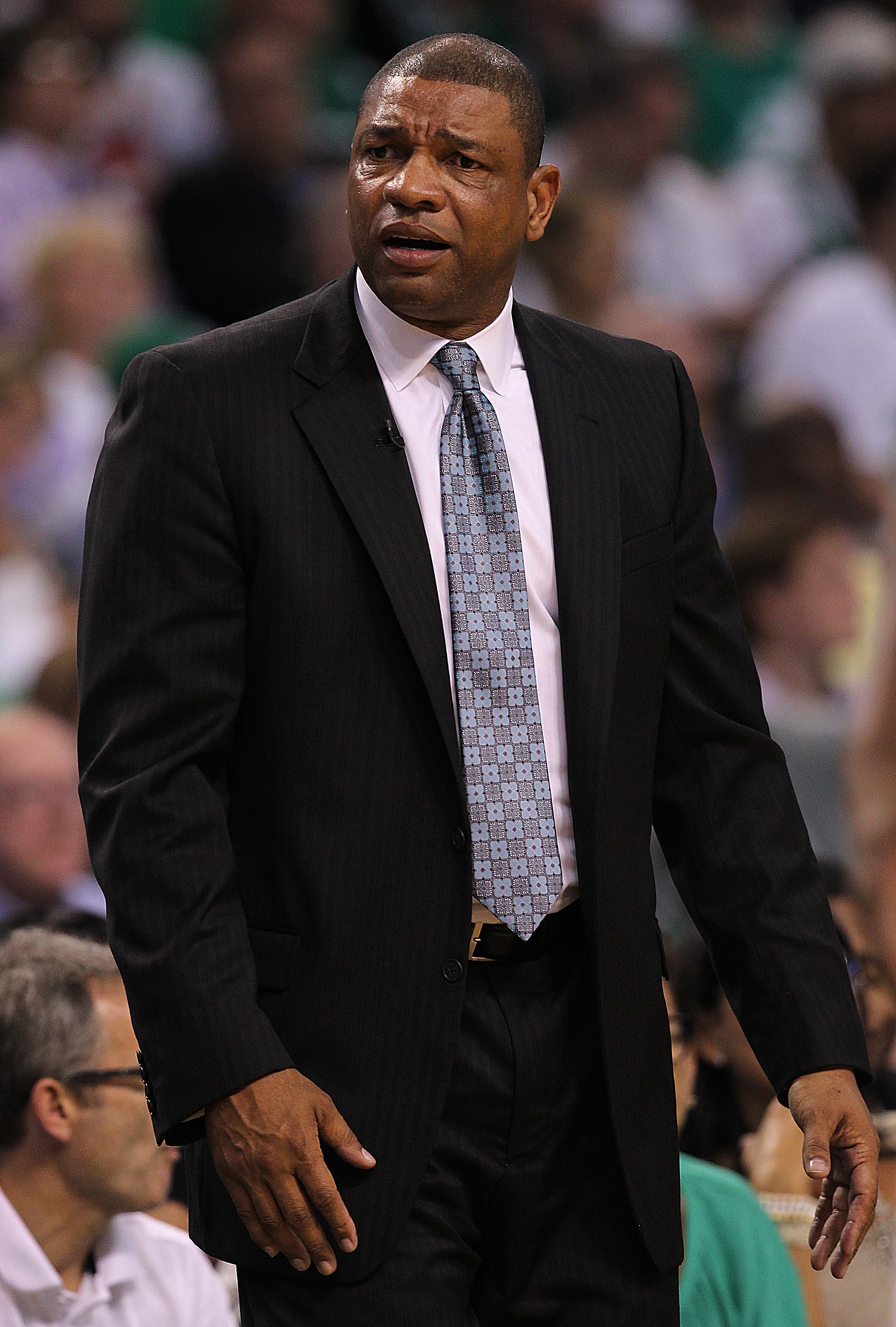 Doc Rivers is moving on to his third Eastern Conference finals as Celtics coach. (Getty Images)
