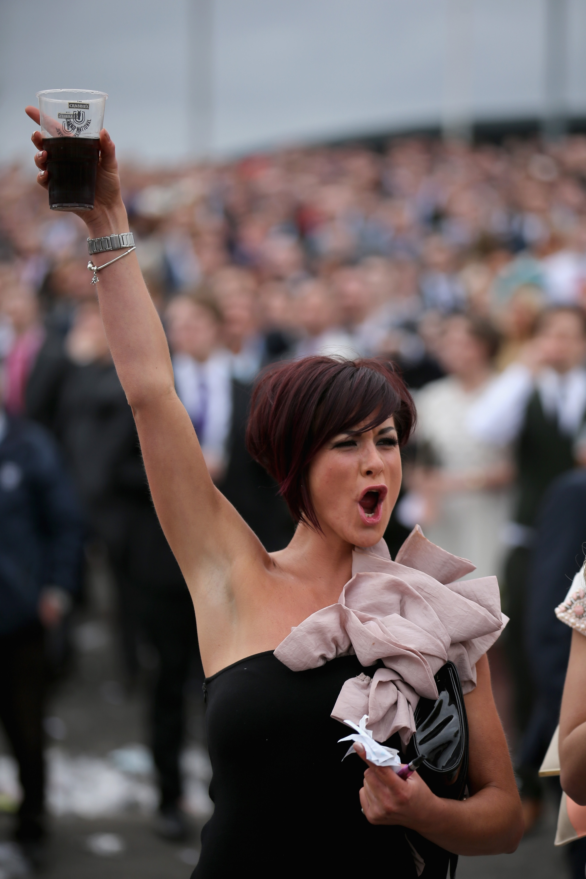 Racegoers Enjoy Ladies Day At Aintree