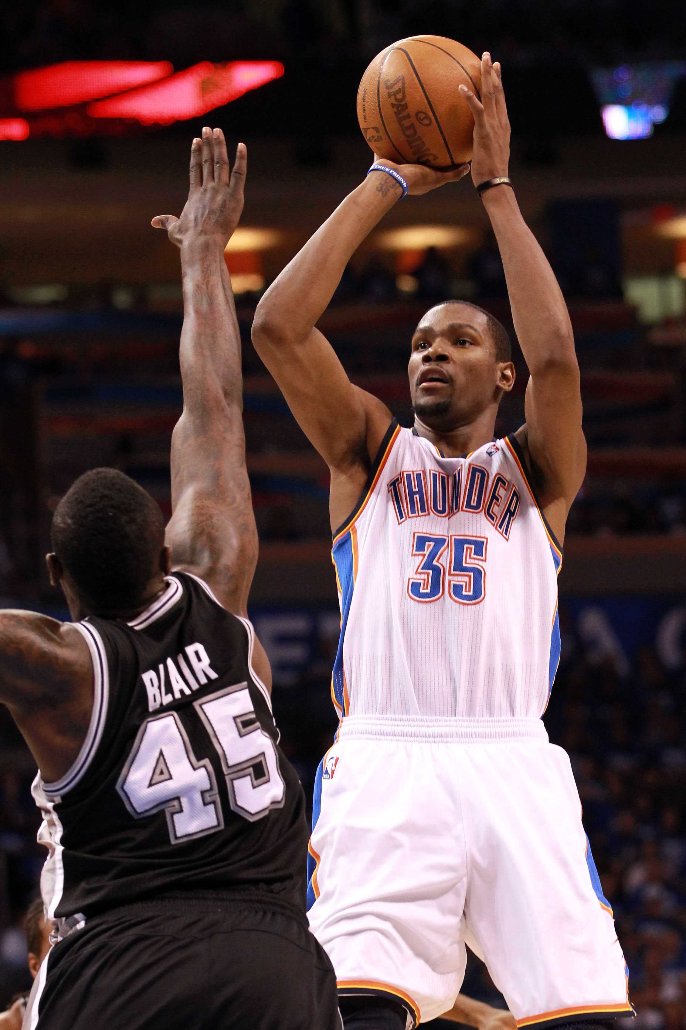 Kevin Durant scored 18 of his 36 points in the fourth quarter. (Getty Images)