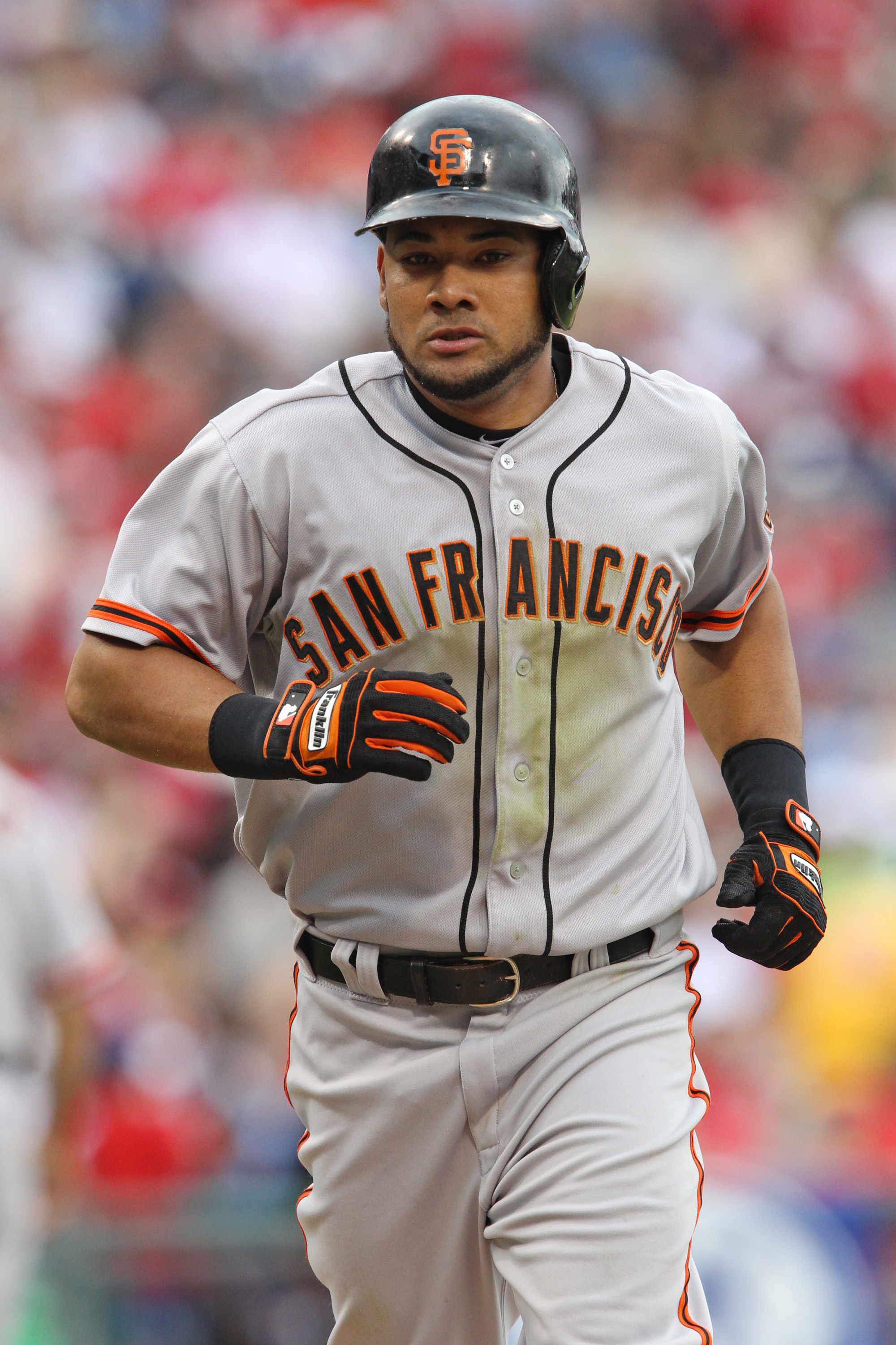 Melky Cabrera hit .346 for the Giants prior to his 50-game suspension. (Photo by Hunter Martin/Getty Images)