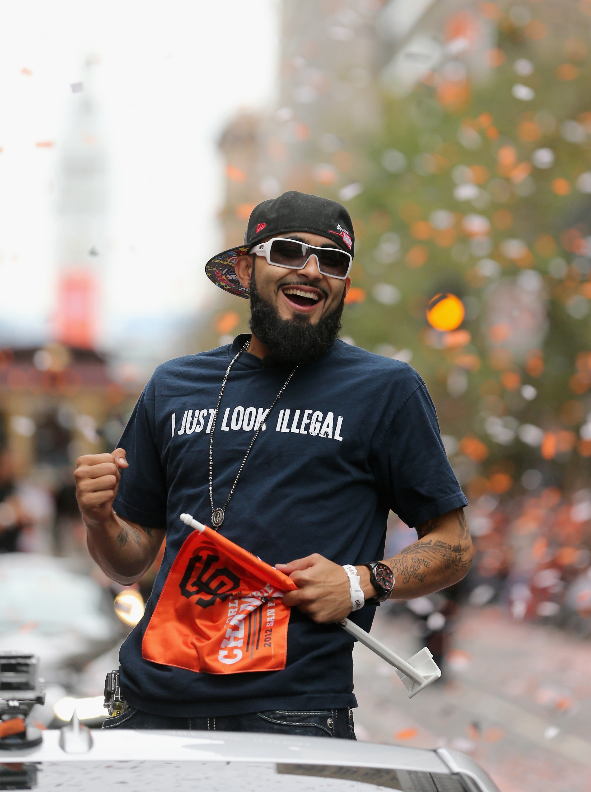 Sergio Romo, Team Mexico's closer, isn't shy about making political statements. (Getty Images)