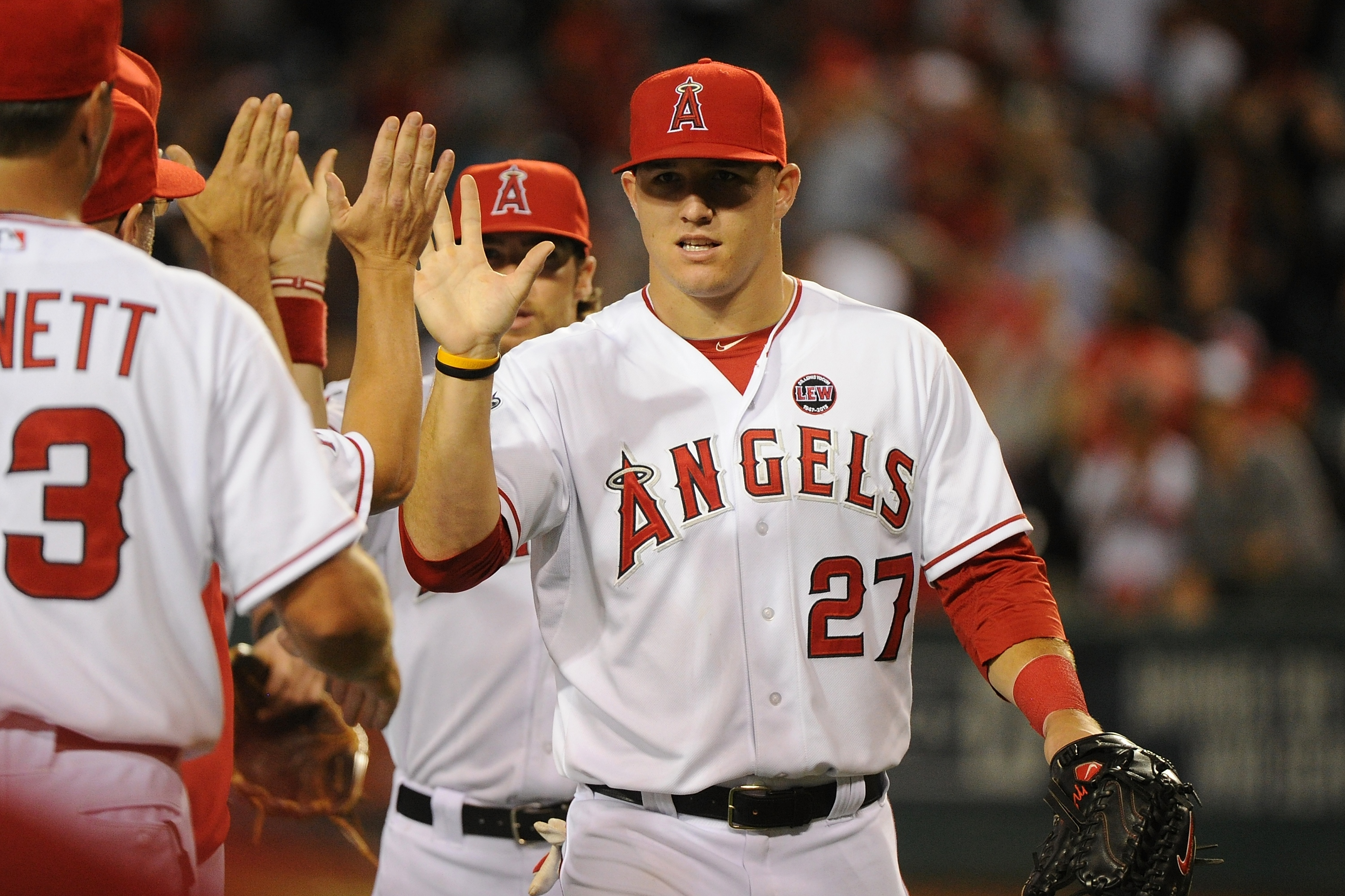 The Angels have had little to celebrate aside from another strong season by Mike Trout. (Getty Images)