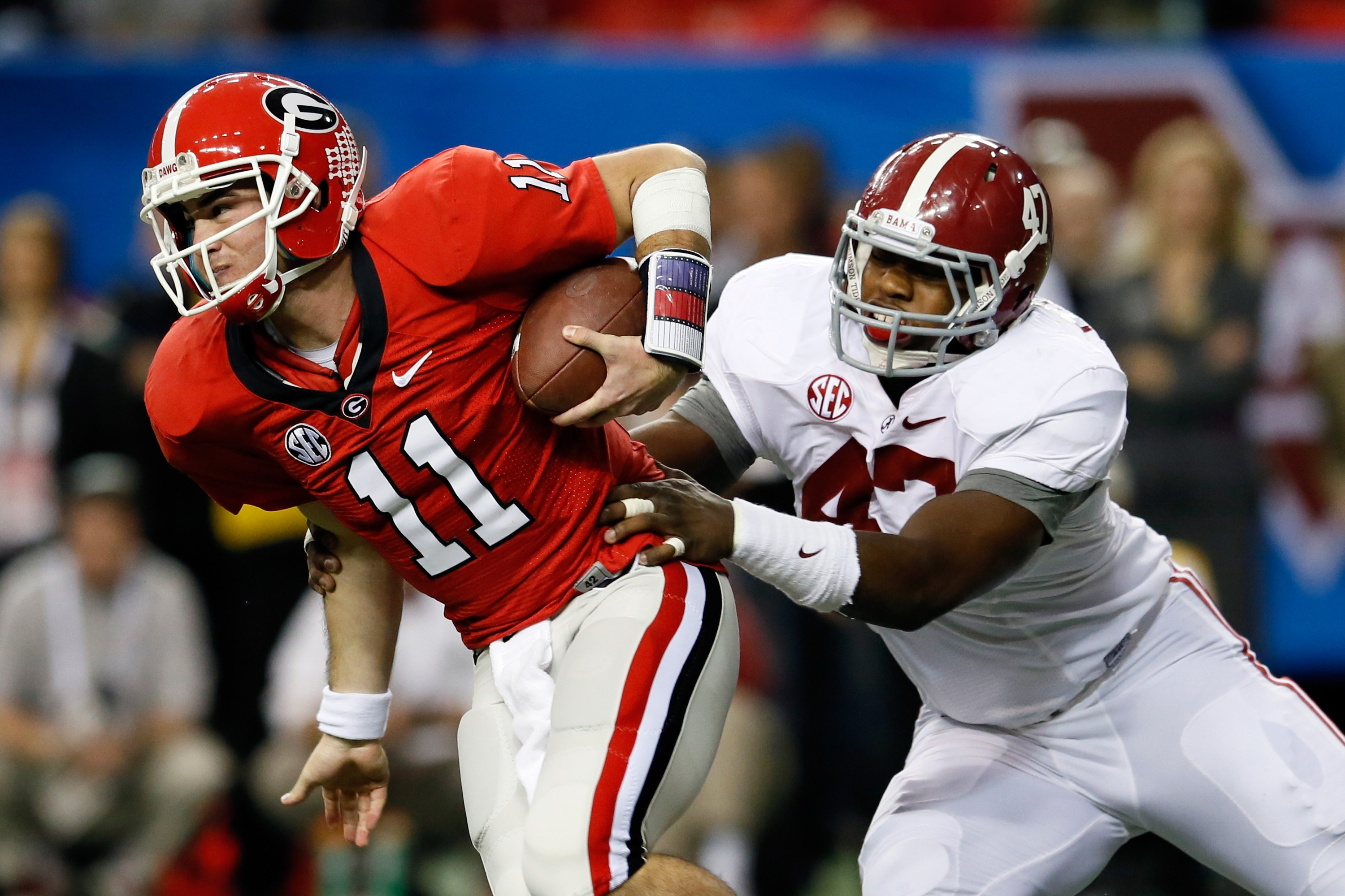 Aaron Murray is hoping to get the memory of Georgia's loss to Alabama off his back. (Getty)