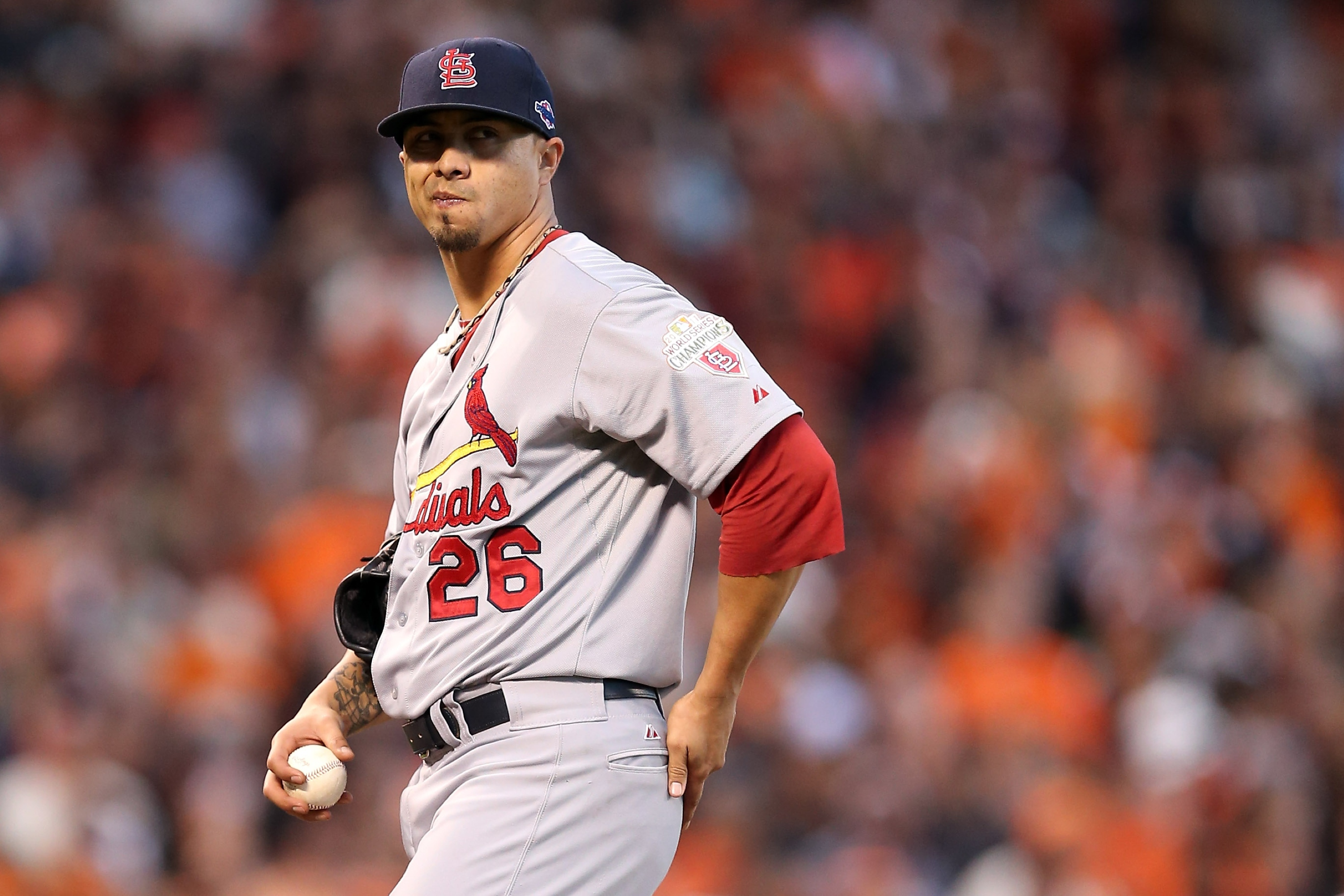 New draft-pick compensation rules may have hindered interest in Kyle Lohse. (Getty Images)