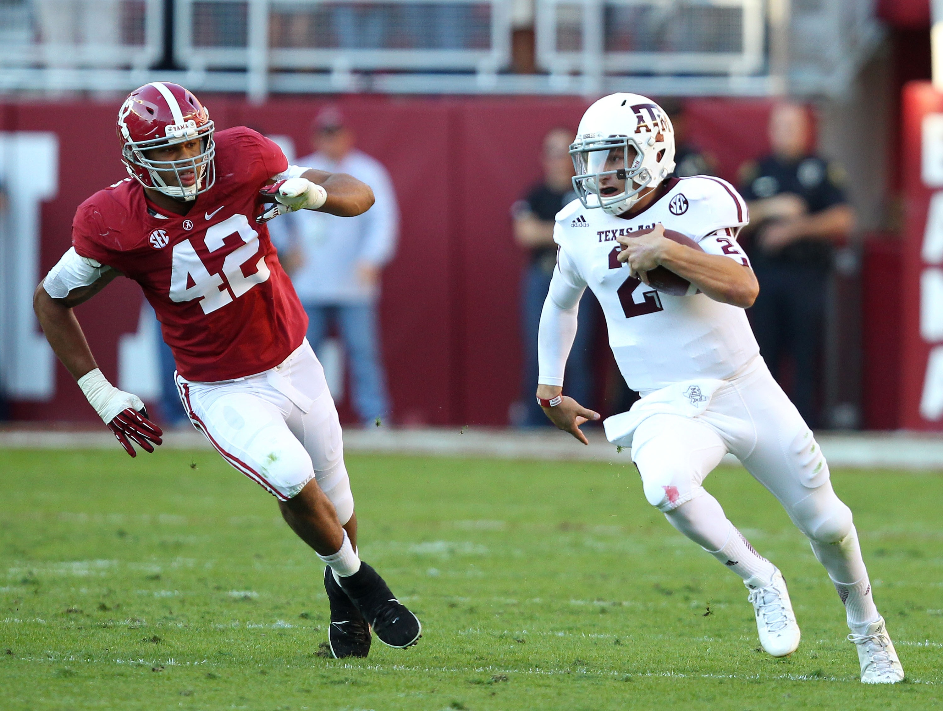 The Crimson Tide is undoubtedly itching for a chance to get revenge on Johnny Football. (Getty)