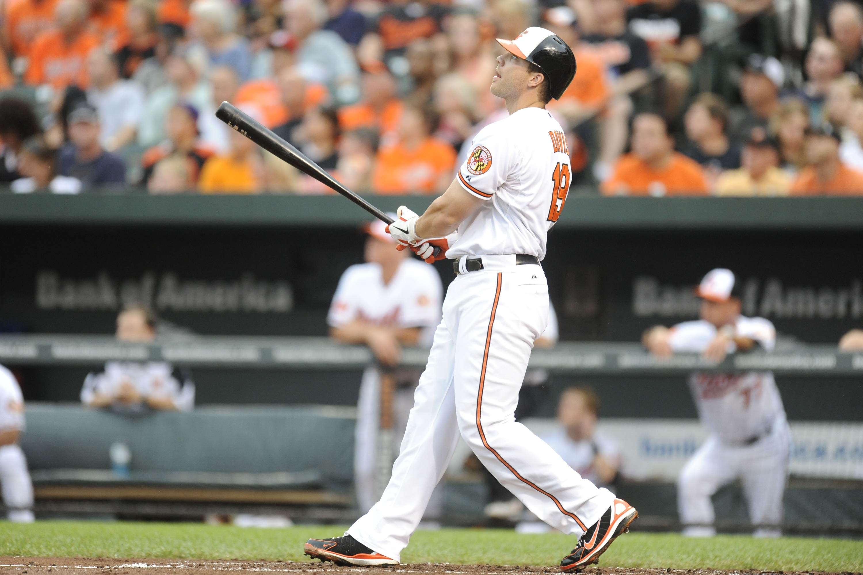 However improbable, Chris Davis is making a strong chase for Roger Maris' home run record. (Getty Images)
