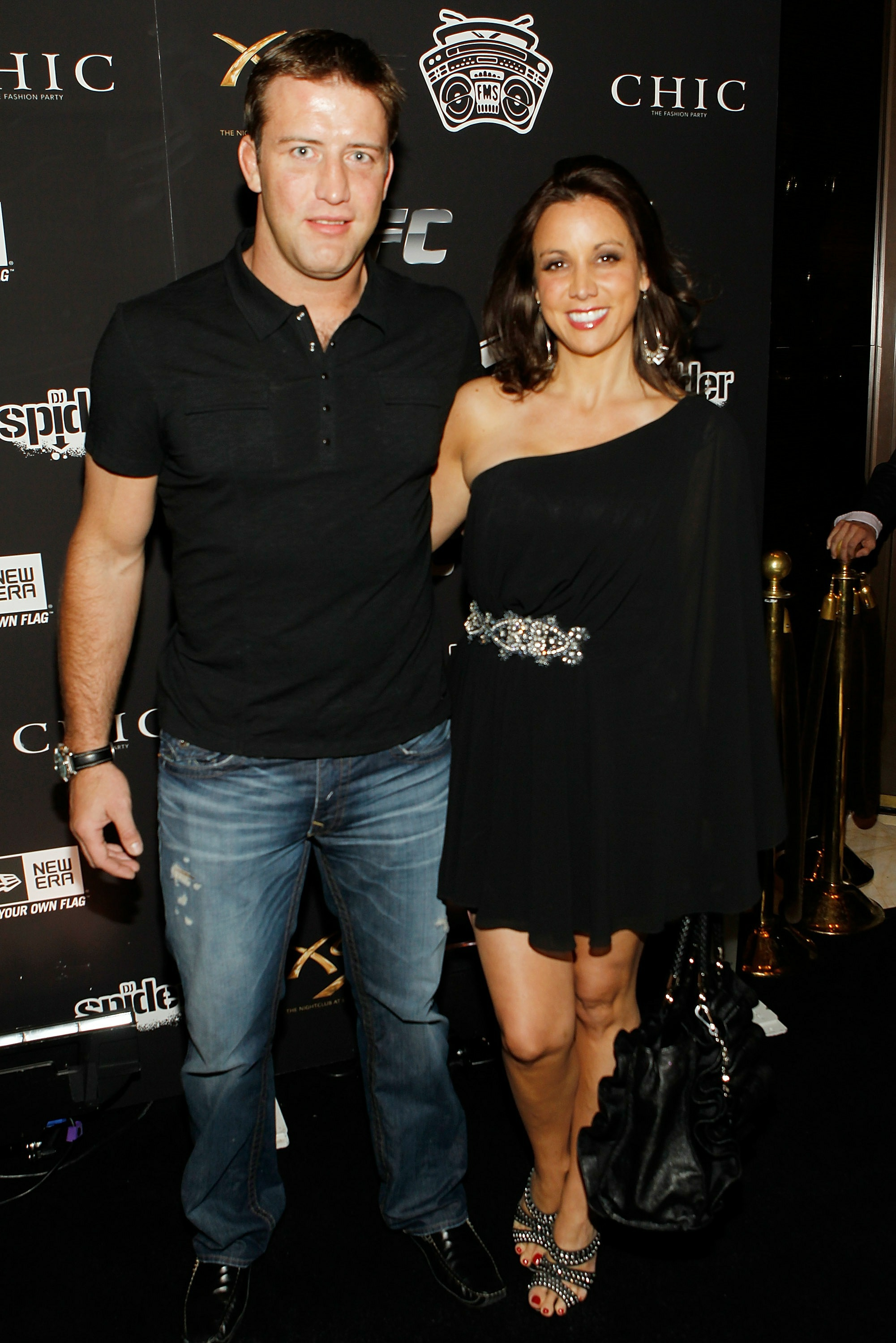 Stephan Bonnar and his wife, Andrea, are shown attending a UFC event. (Getty)