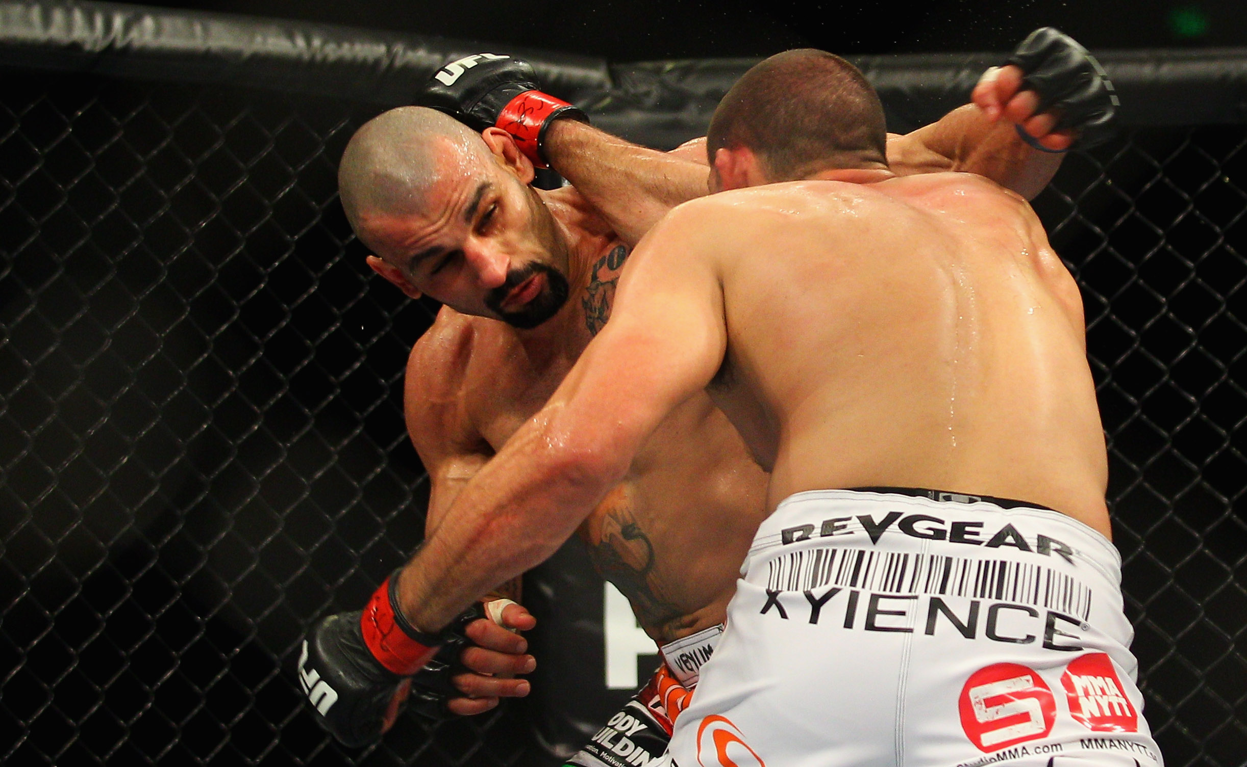 Constantinos Philippou and Court McGee exchange punches. (Getty)