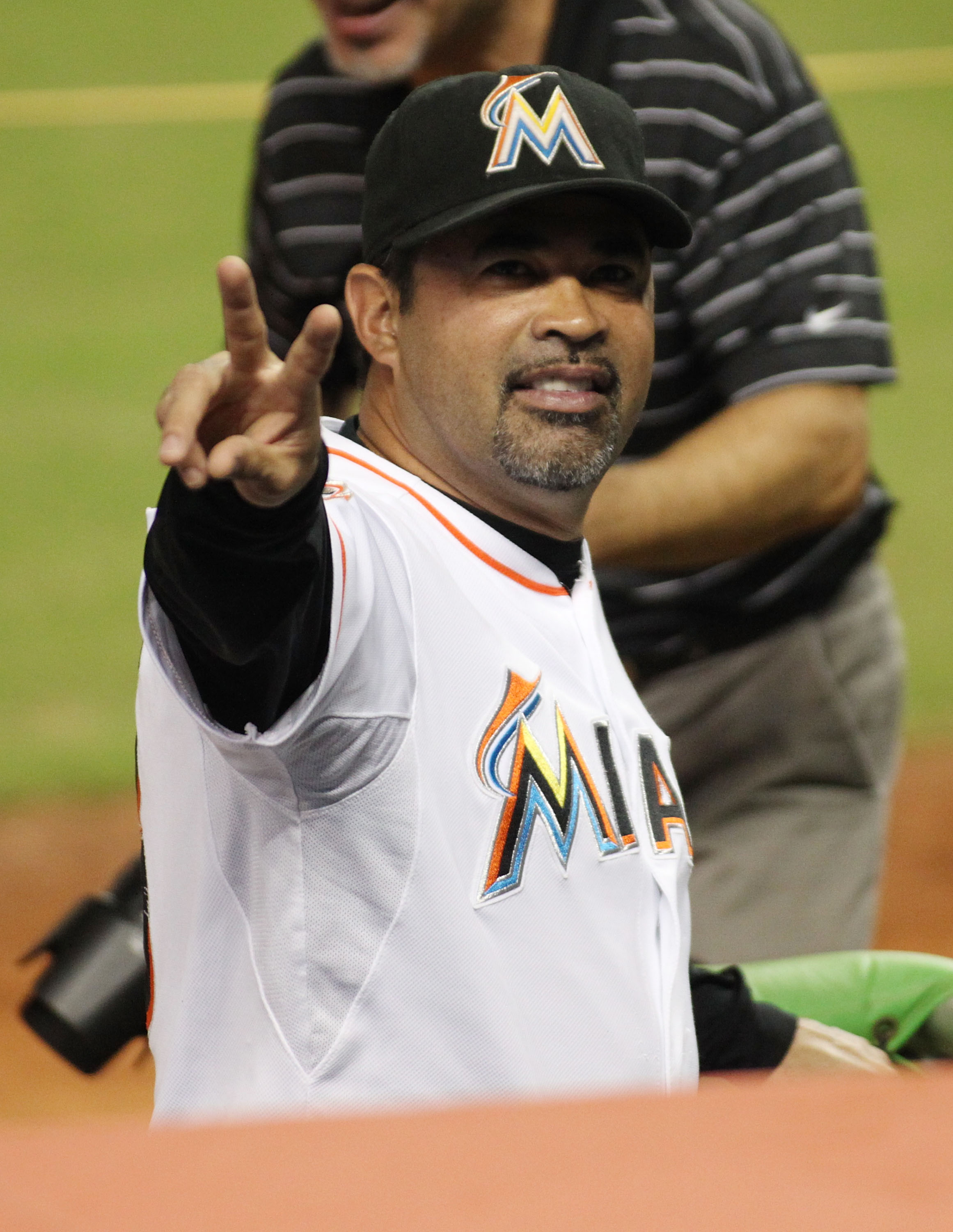 The Marlins are in last place in the NL East in Ozzie Guillen's first season as manager. (Getty Images)