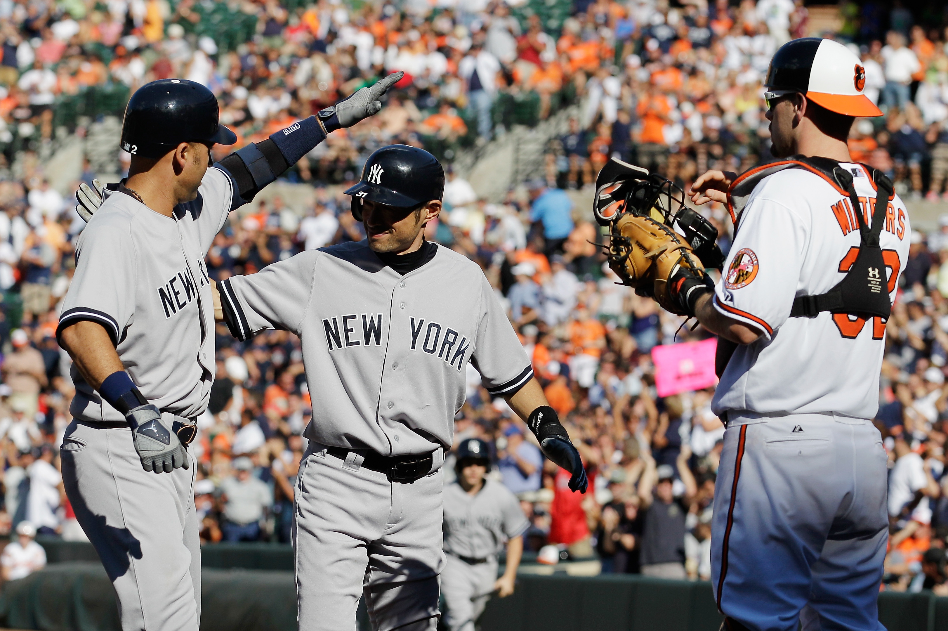 The Yankees split their four-game series with the Orioles after a 13-3 victory on Sunday. (Getty Images)