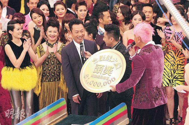 黎耀祥獨得台慶百萬大獎,旺氣逼人。(攝影/記者:鍾一虹)