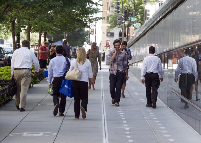 Chinese City Trolls World With Sidewalk Cell Phone Lane
