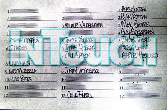 Lindsay Lohan Left a Handwritten List of Her Celebrity Conquests in a Hotel Bar