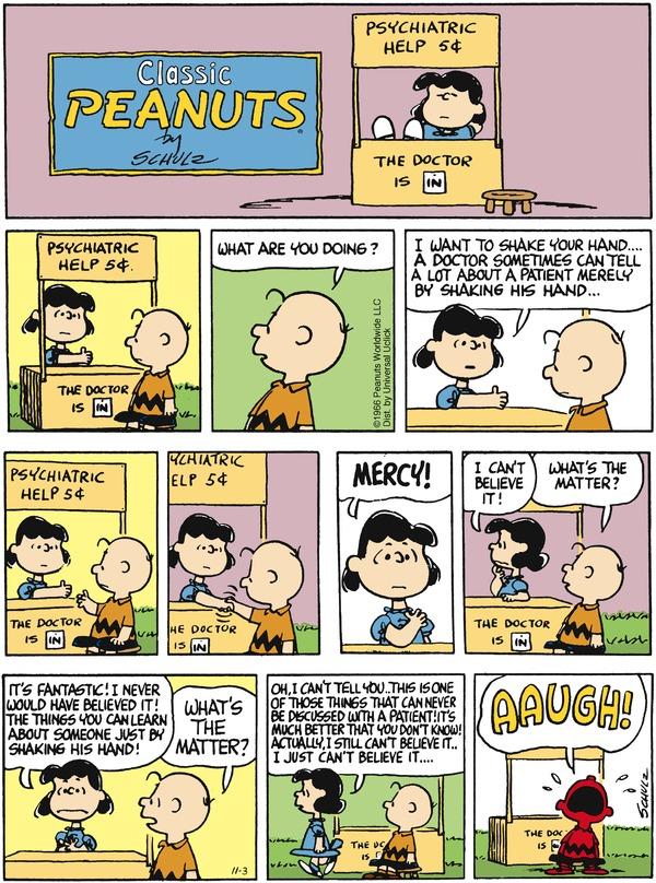 Peanuts comic strips