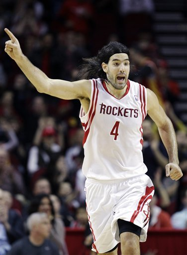Luis Scola's time in Houston is about to come to an end. (AP)