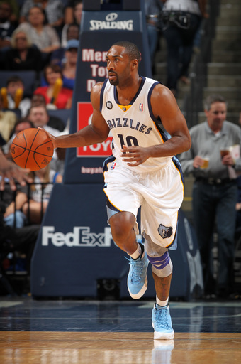 Gilbert Arenas played part of last season with the Grizzlies. (AP)