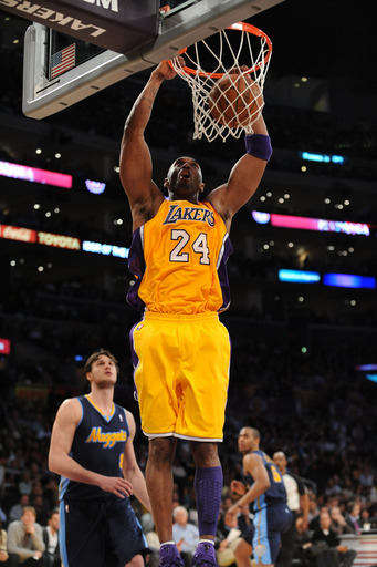 Kobe Bryant scored 38 points in the Lakers' Game 2 win over Denver. (AP)