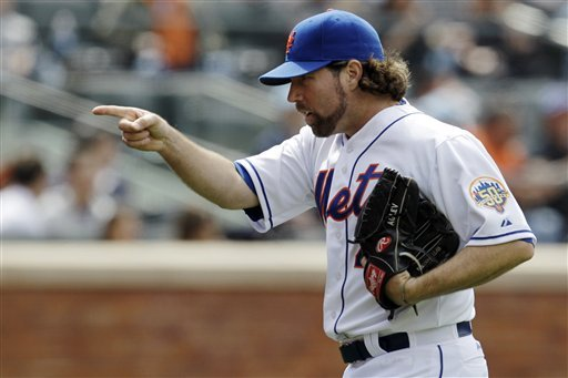 R.A. Dickey has been a model of efficiency. (AP)