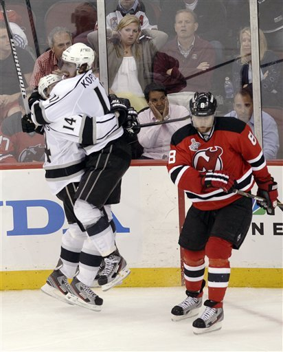 Anze Kopitar's overtime winner salvaged a plodding Game 1 between the Kings and Devils. (AP)