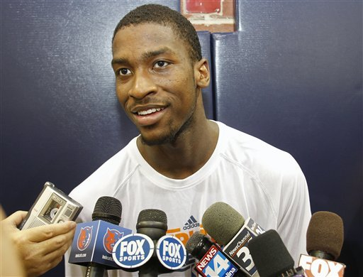 Michael Kidd-Gilchrist didn't participate in many news conferences while he was at Kentucky. (AP)