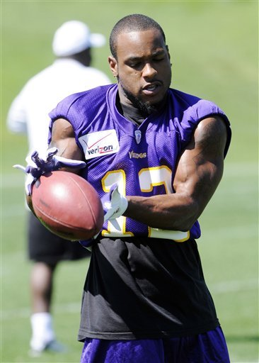 Back to work: Harvin returns to Vikings minicamp