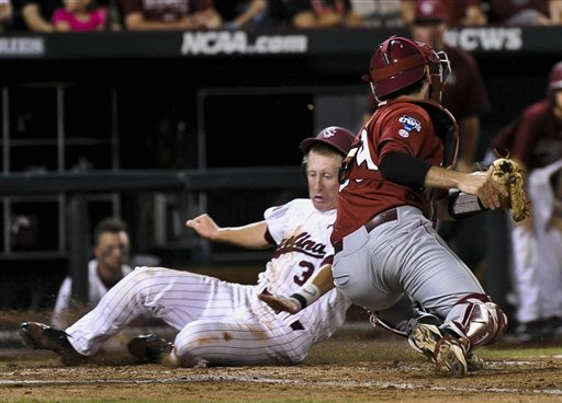 S. Carolina heads to finals with 3-2 win over Hogs