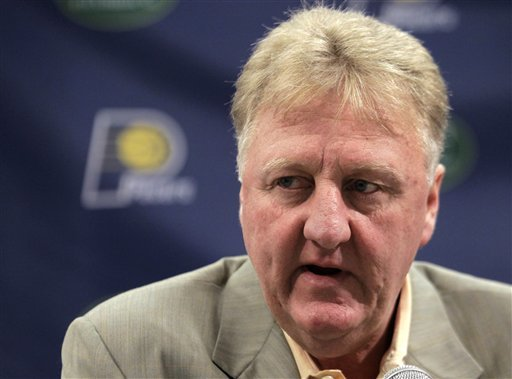 Larry Bird left the Pacers on June 27, 2012, to attend to some health concerns. (AP)
