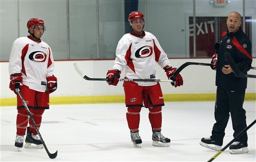 Oh, brothers! Olczyk's sons reunite at 'Canes camp